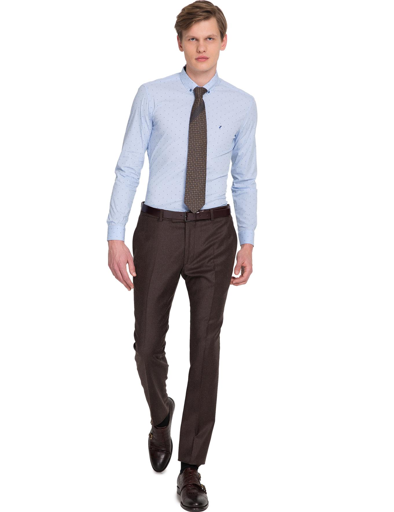Açık Mavi Slim Fit Gömlek - 50174255005