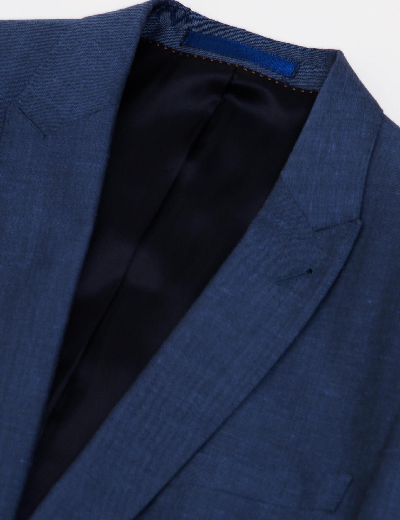Koyu Mavi Slim Fit Takım Elbise - 50185598008