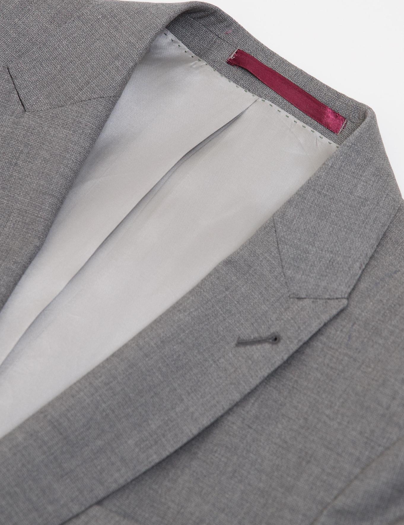 Gri Slim Fit Ceket - 50185736002