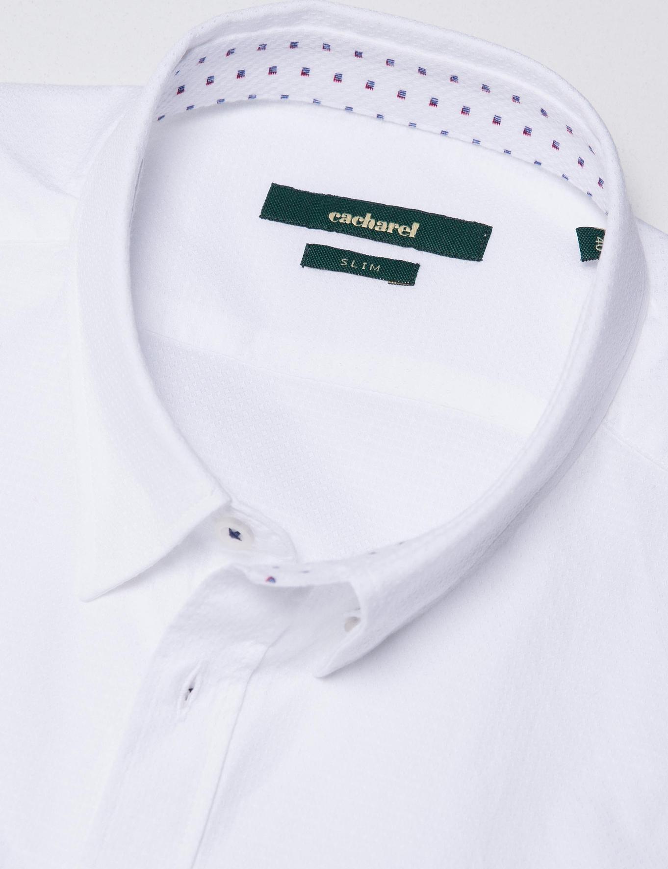 Beyaz Slim Fit Gömlek - 50185886020