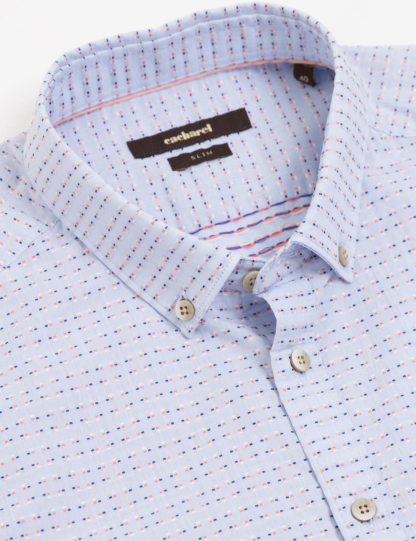 Açık Mavi Slim Fit Gömlek - 50186059004