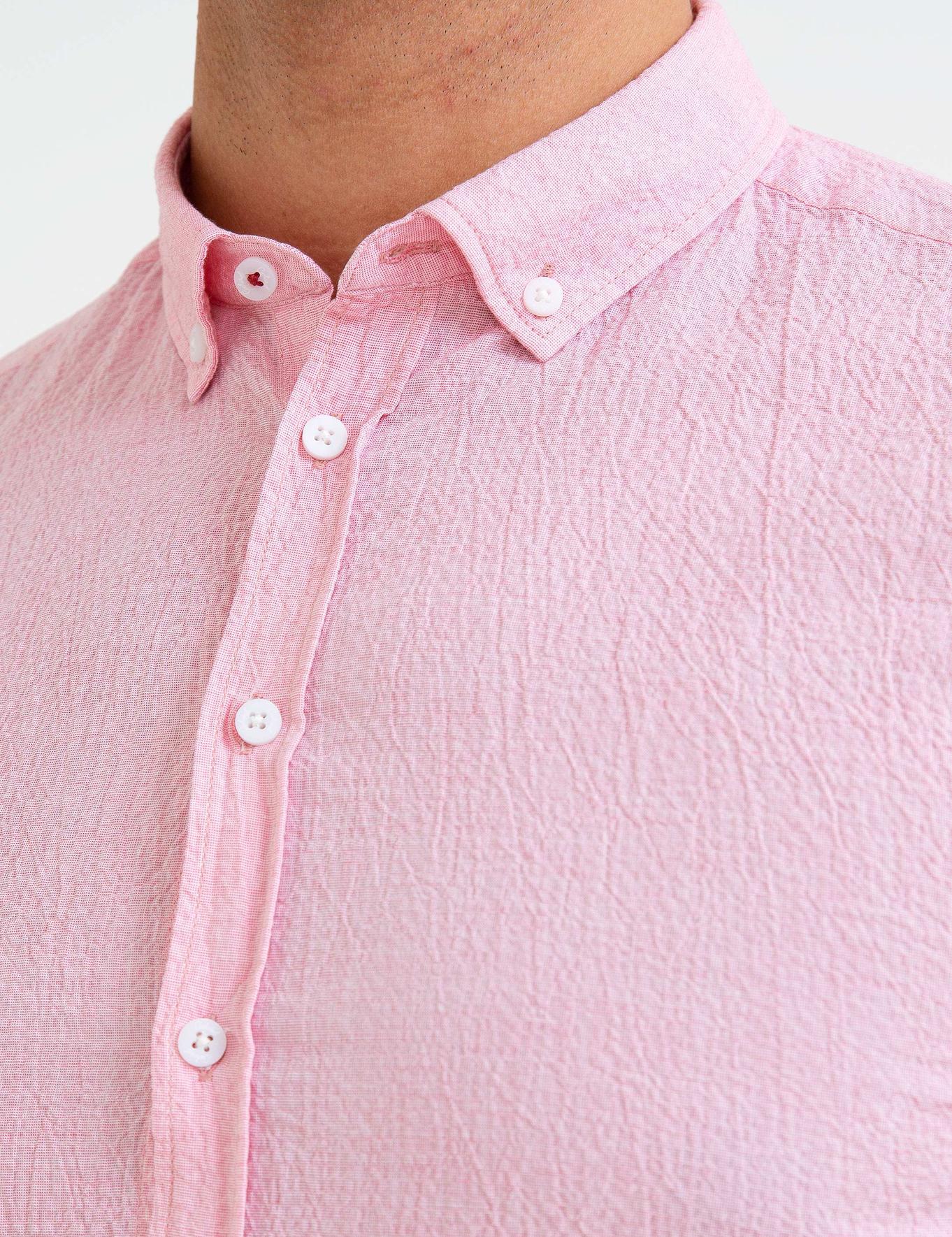 Kırmızı Slim Fit Gömlek - 50186064004