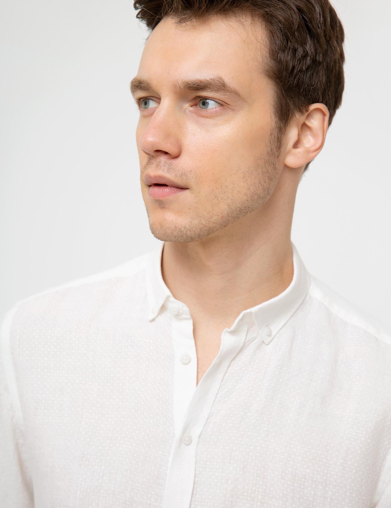 Beyaz Regular Fit Gömlek - 50186066004