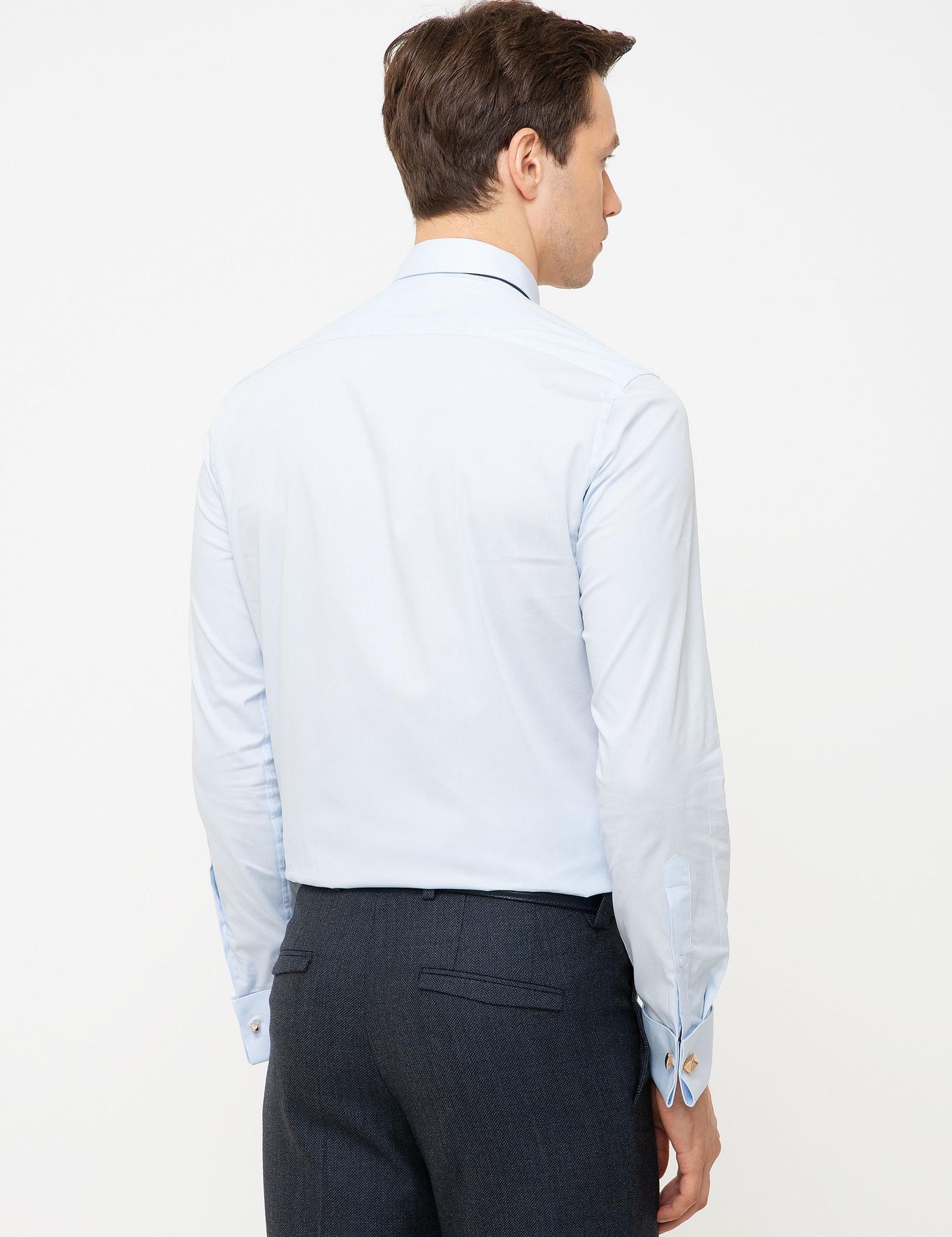 Açık Mavi Slim Fit Gömlek - 50197789035