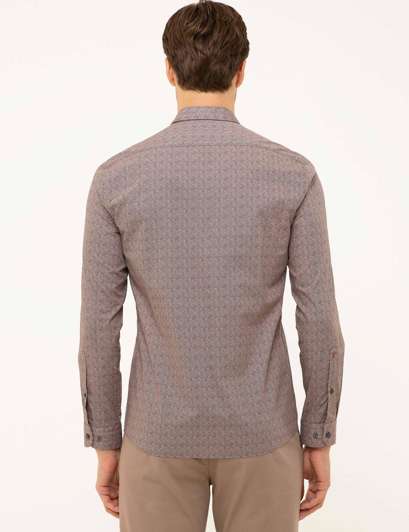 Bordo Slim Fit Gömlek - 50210001023