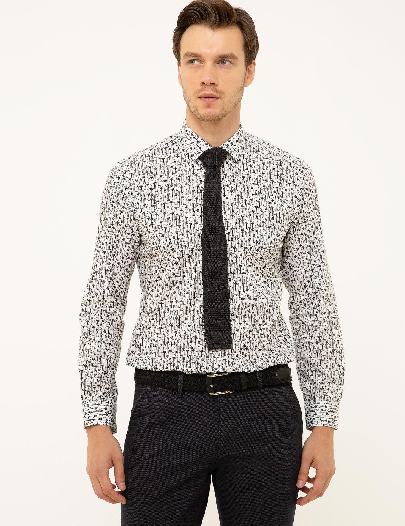 Beyaz Slim Fit Gömlek - 50210012023