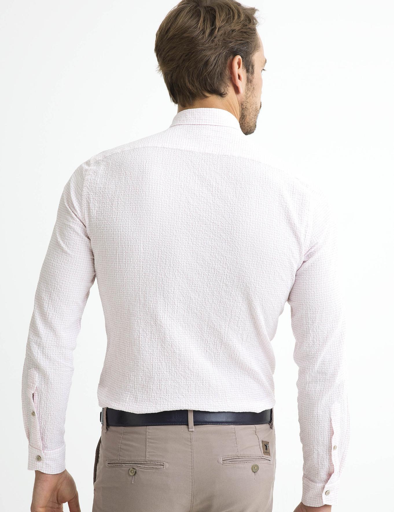 Kırmızı Slim Fit Gömlek - 50189617005