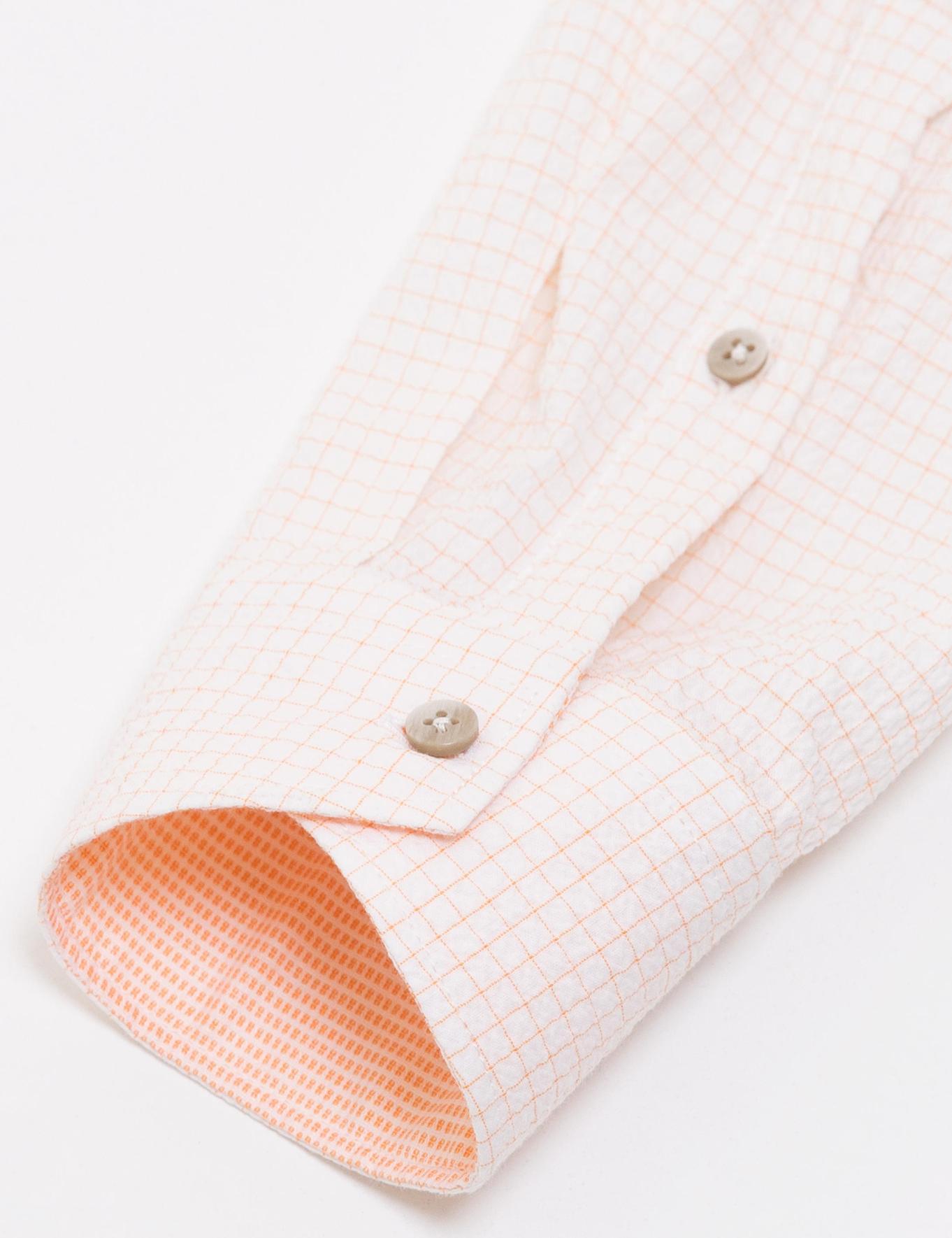 Turuncu Slim Fit Gömlek - 50189617021