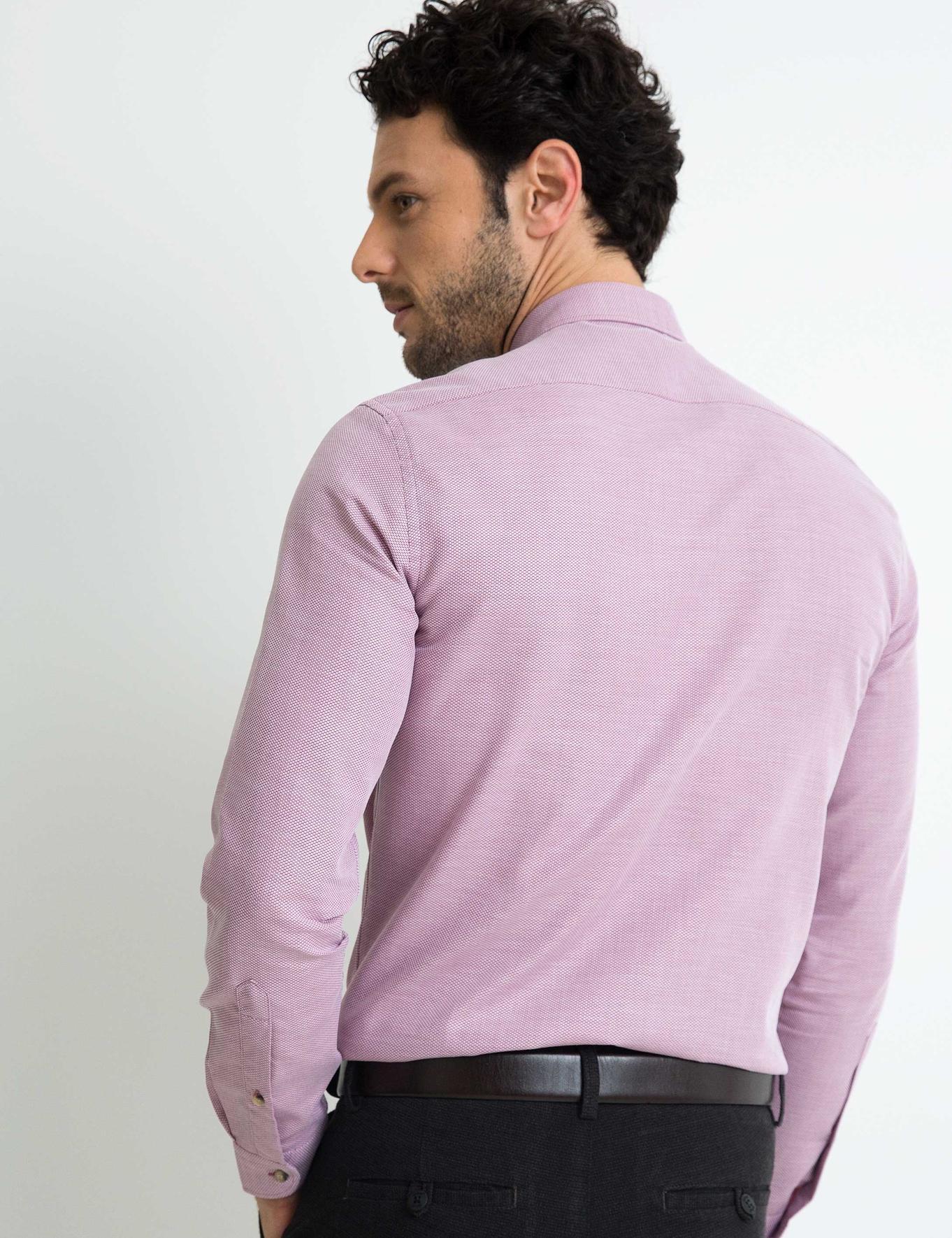 Bordo Slim Fit Gömlek - 50194662018