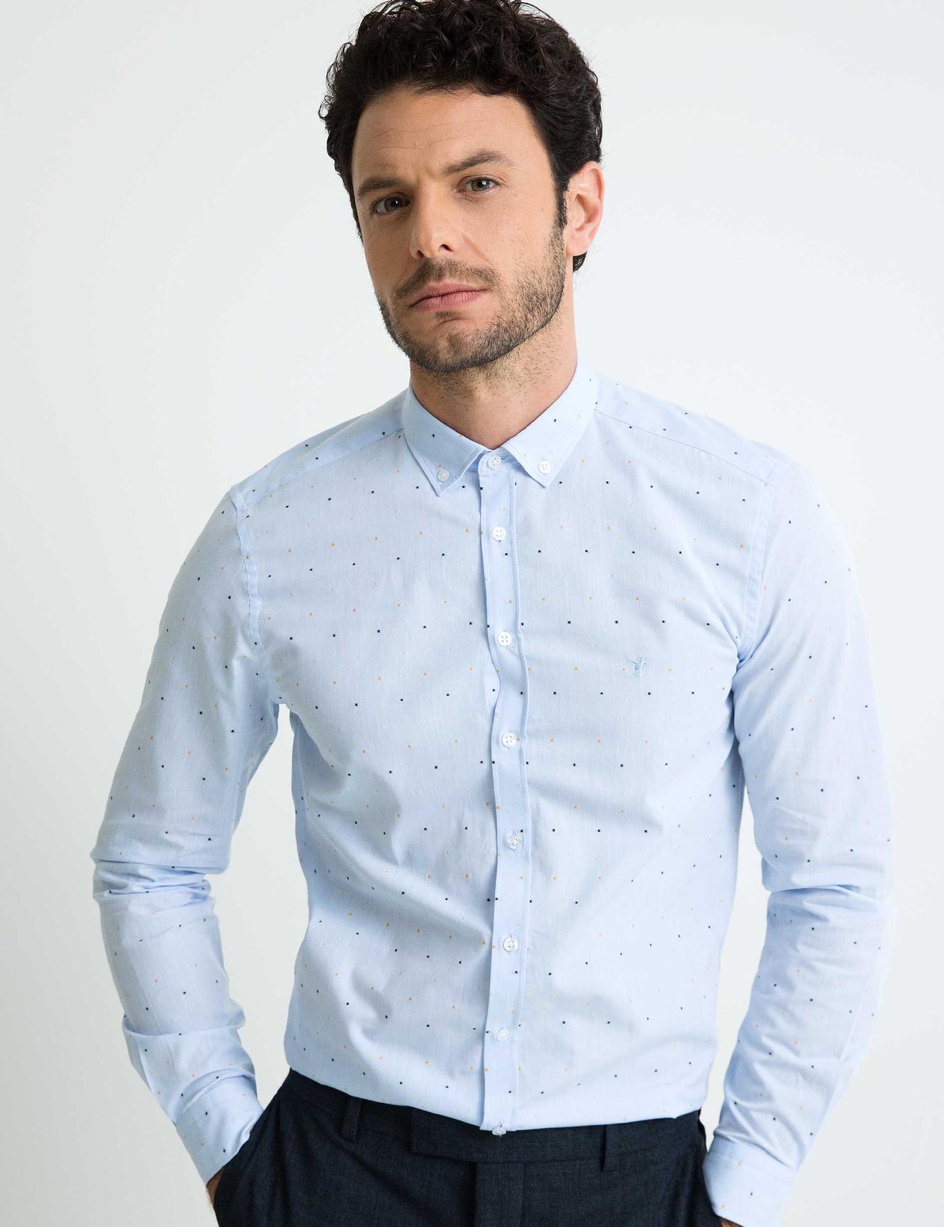 Açık Mavi Slim Fit Gömlek - 50194983028