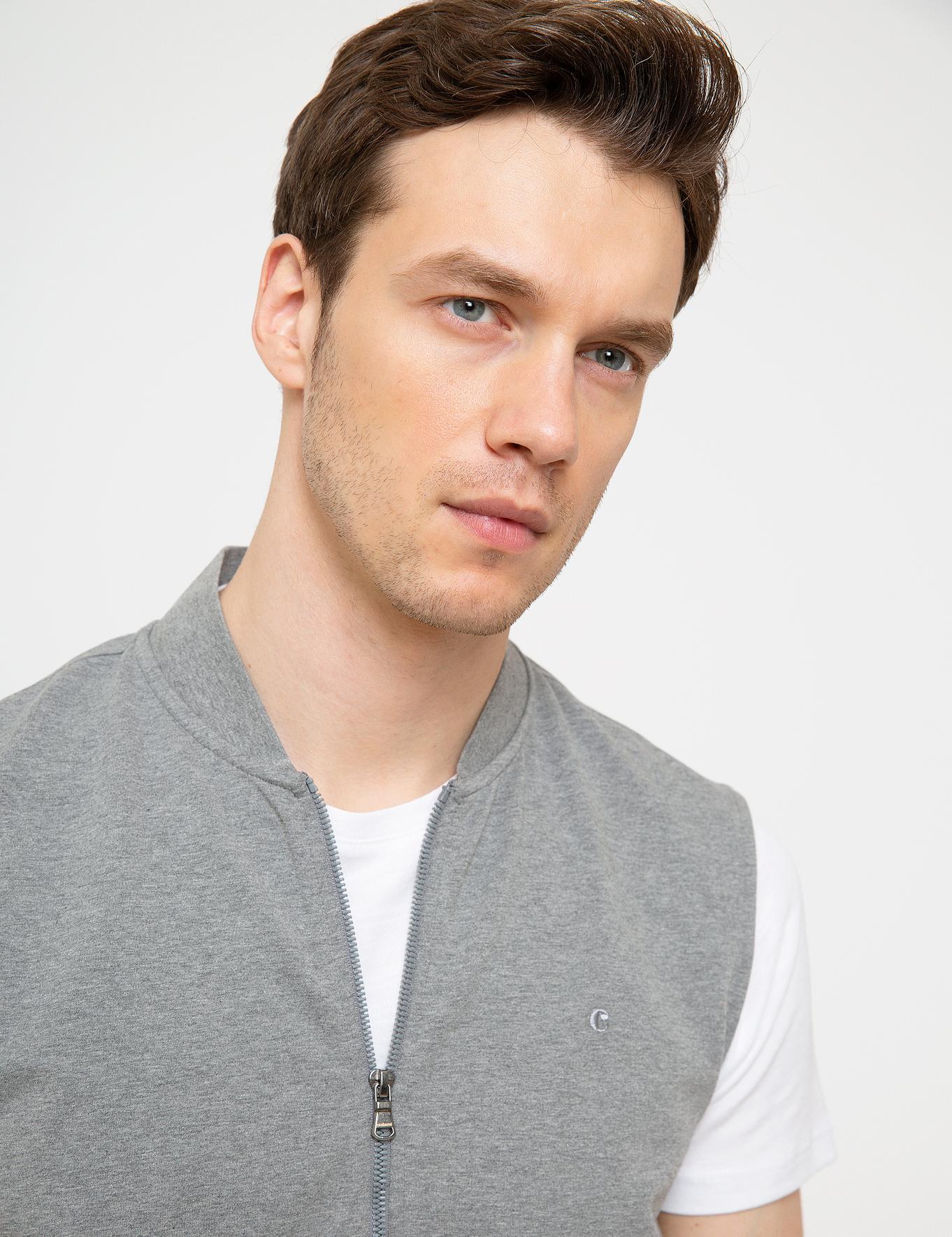Gri Melanj Slim Fit Sweatshirt - 50200417003