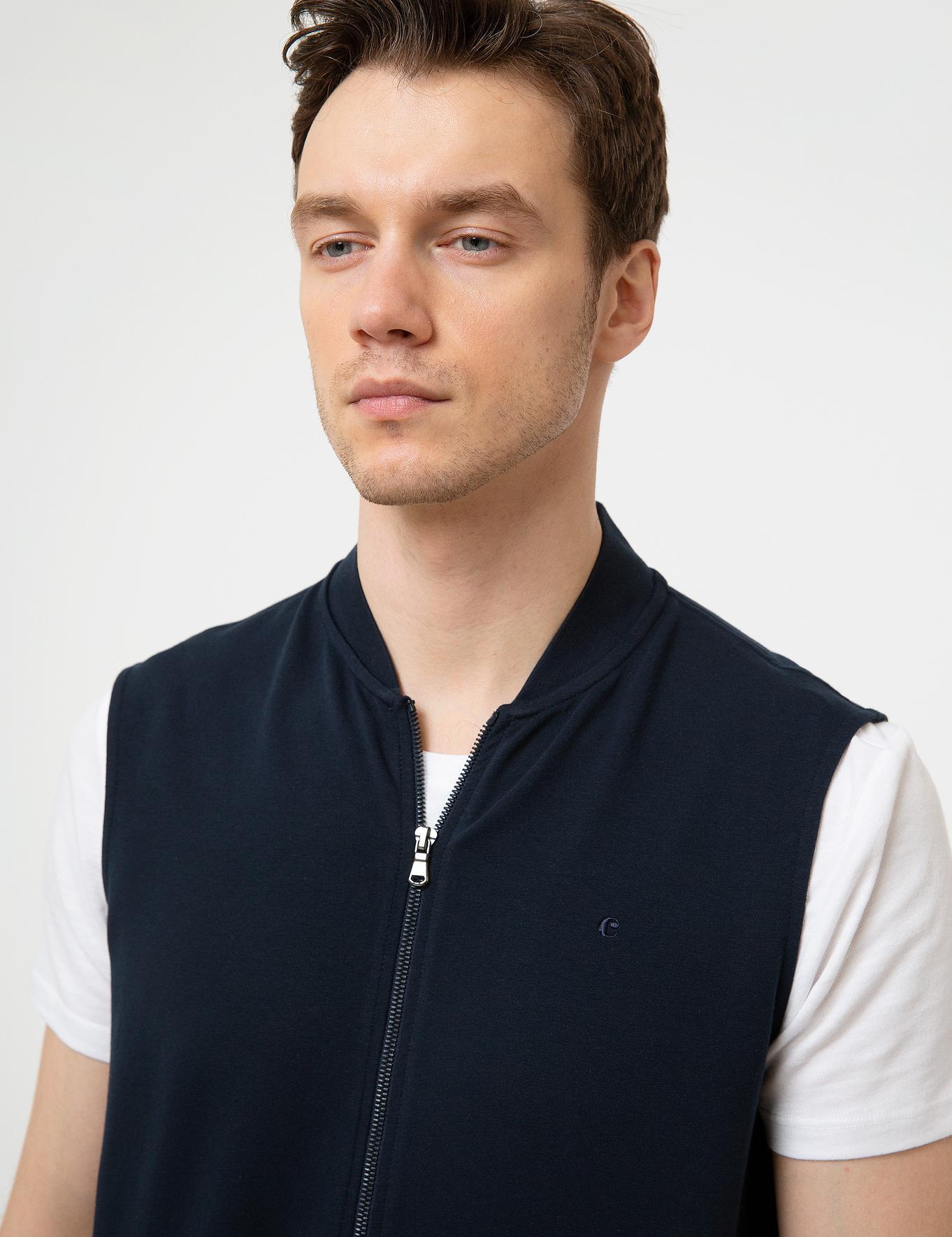 Lacivert Slim Fit Sweatshirt - 50200417012