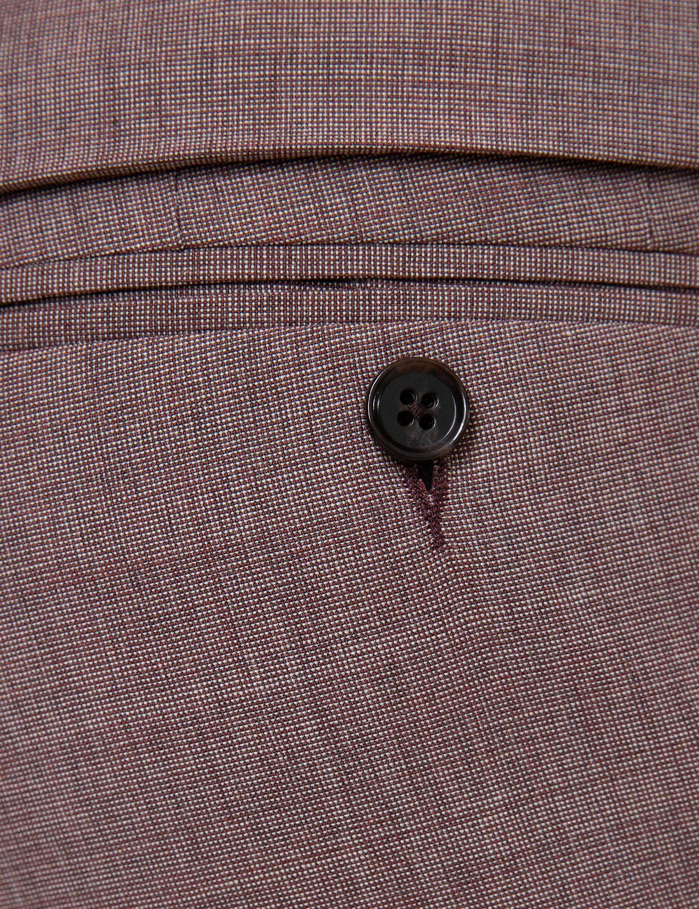 Bordo Slim Fit Takım Elbise - 50201213026