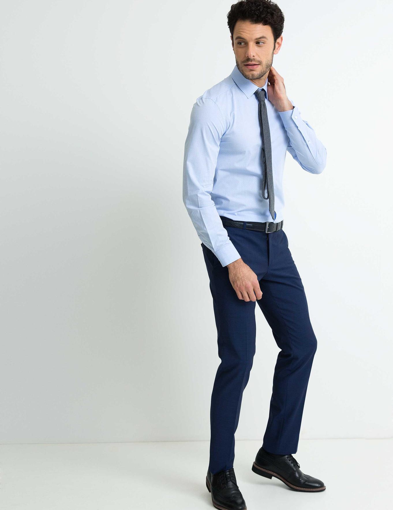 Açık Mavi Slim Fit Gömlek - 50201246020