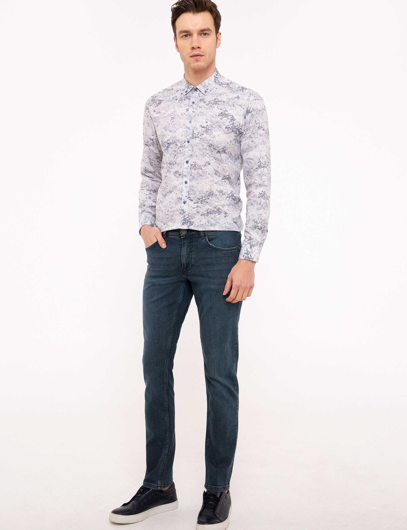 Koyu Mavi Slim Fit Gömlek - 50201656025