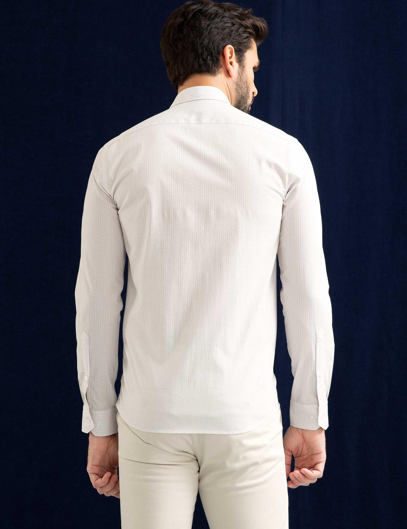 Bej Slim Fit Gömlek - 50202001015