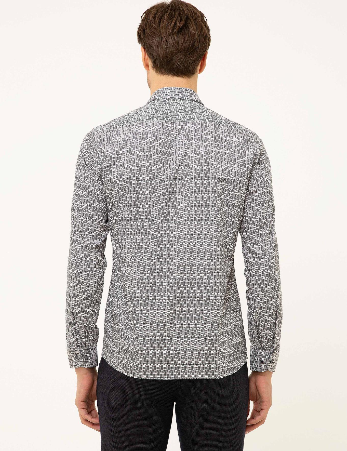Siyah Slim Fit Gömlek - 50210134004
