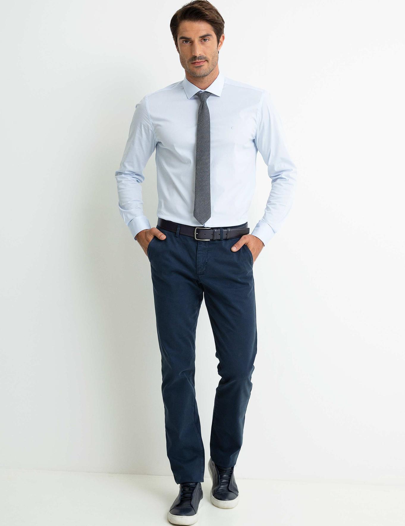 Lacivert Slim Fit Chino - 50193215008