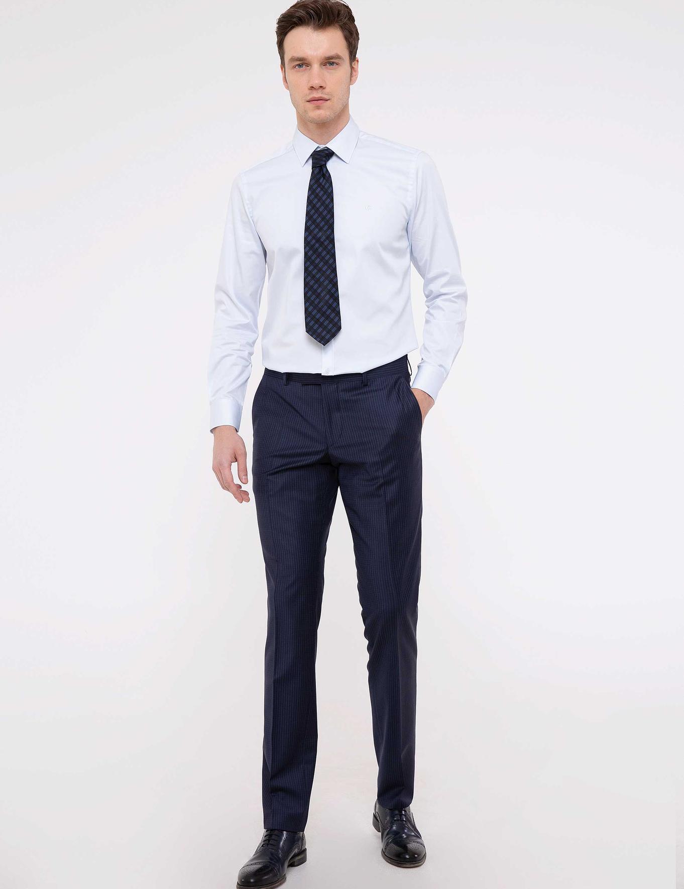 Açık Mavi Slim Fit Basic Gömlek - 50203800027