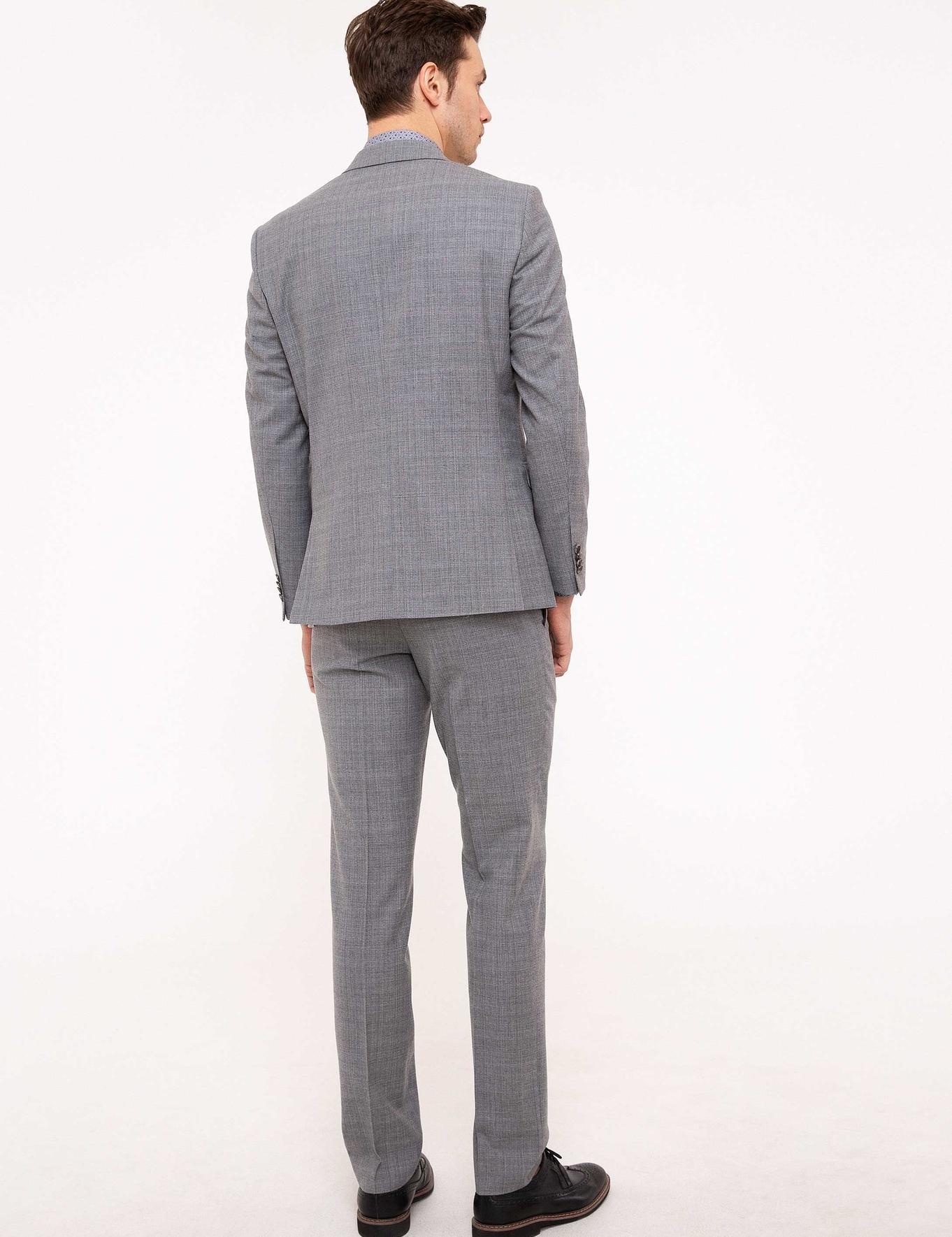 Gri Slim Fit Takım Elbise - 50206234041