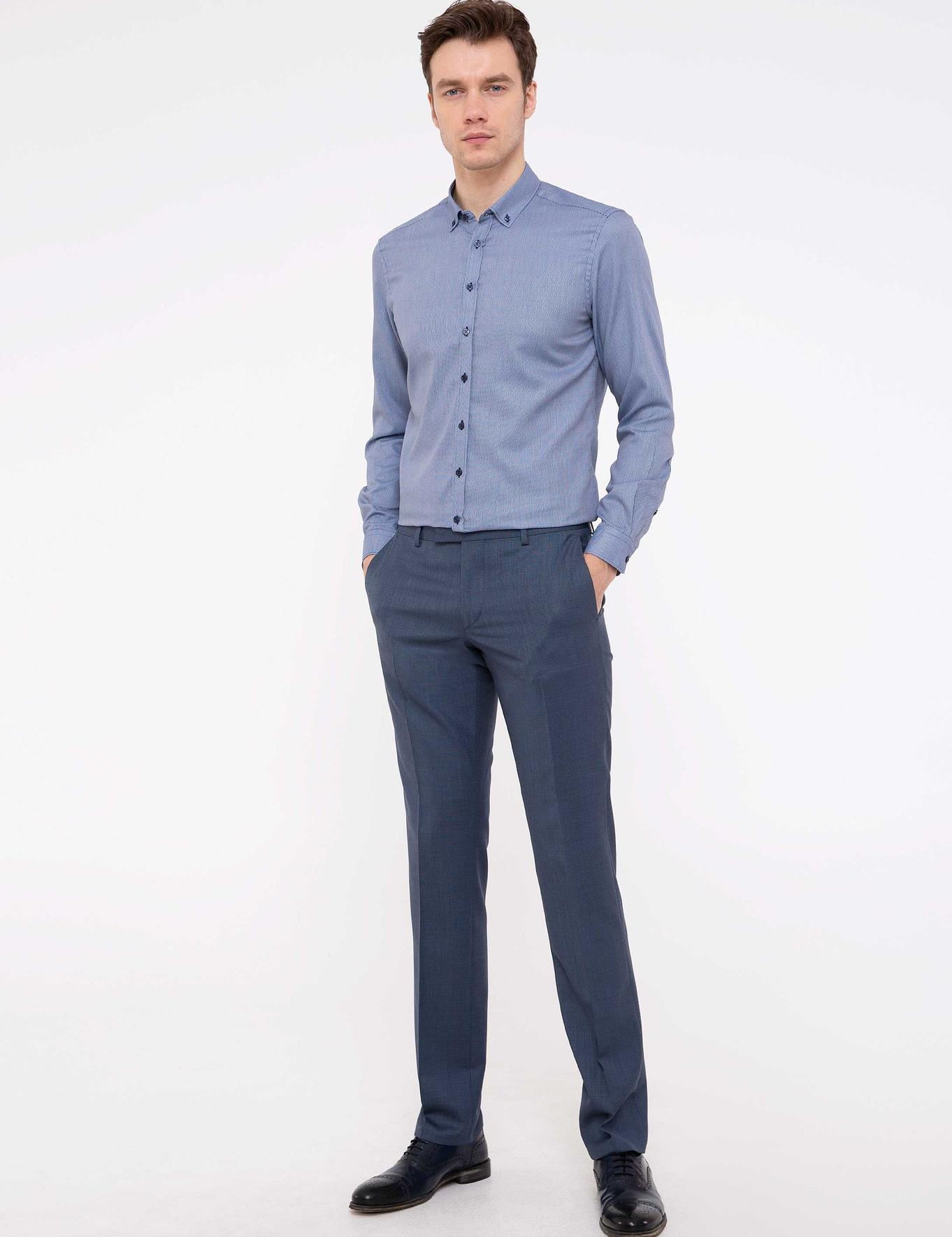Lacivert Slim Fit Gömlek - 50210209024