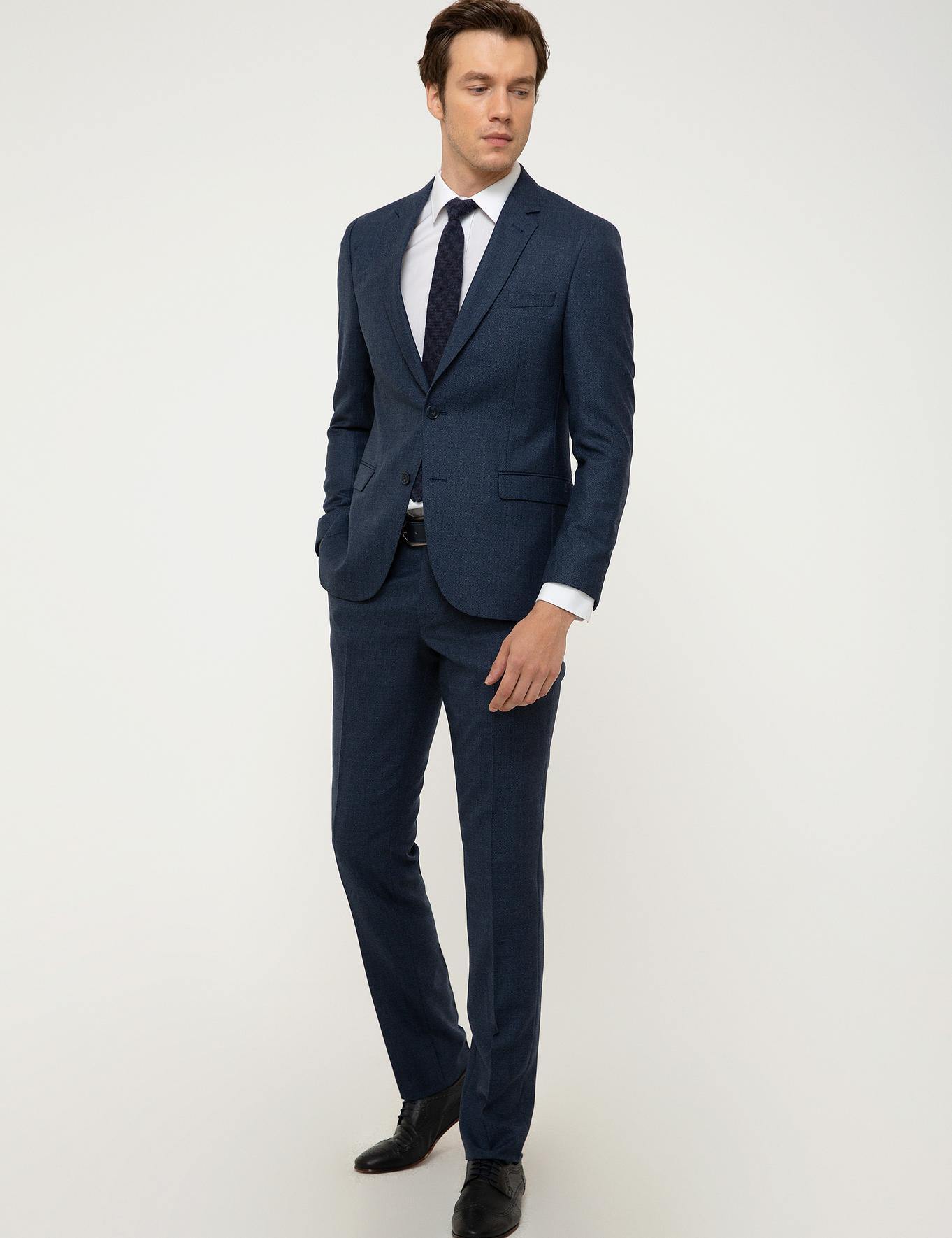 İndigo Slim Fit Takım Elbise - 50213836041