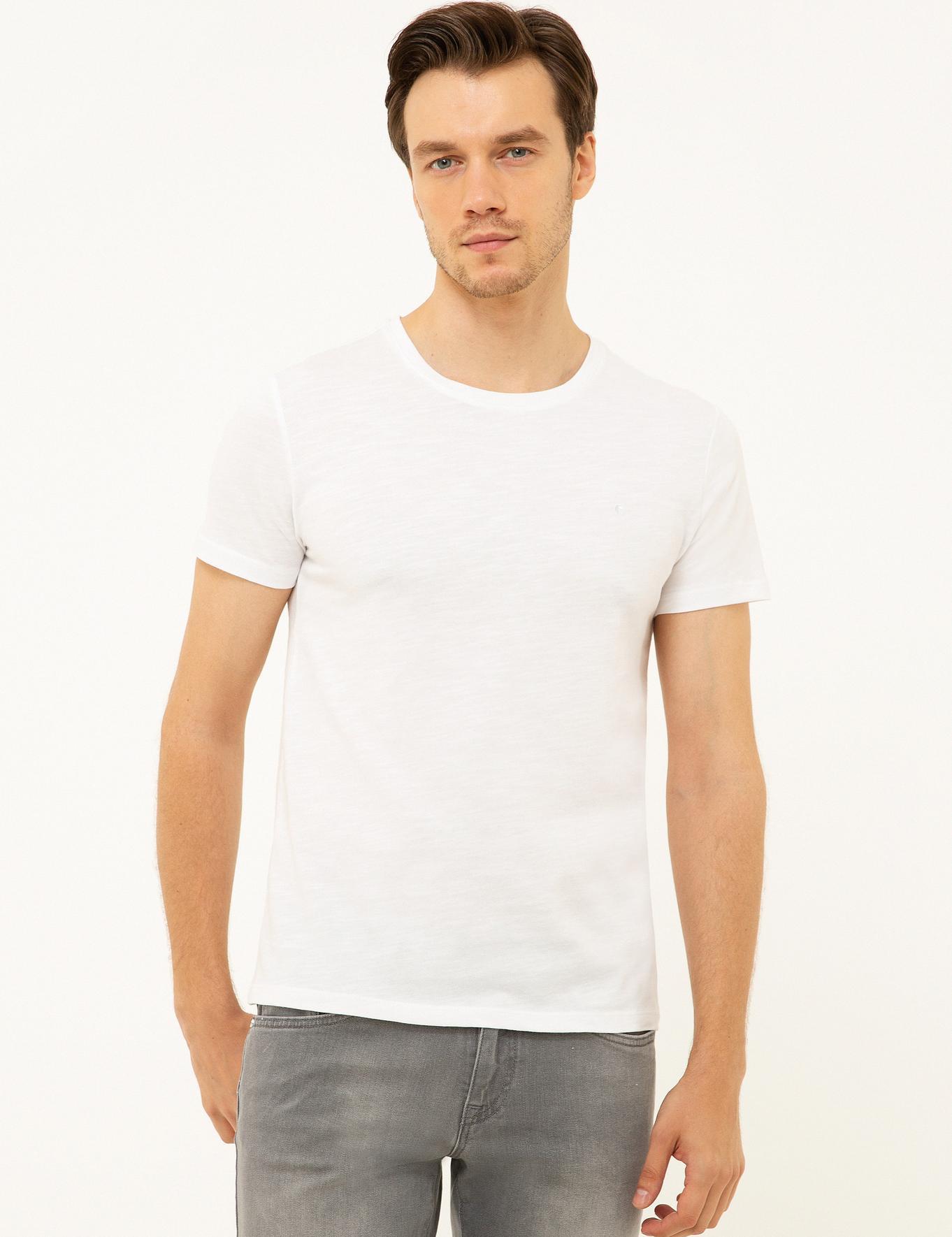 Bisiklet Yaka T-Shirt - 50202501015