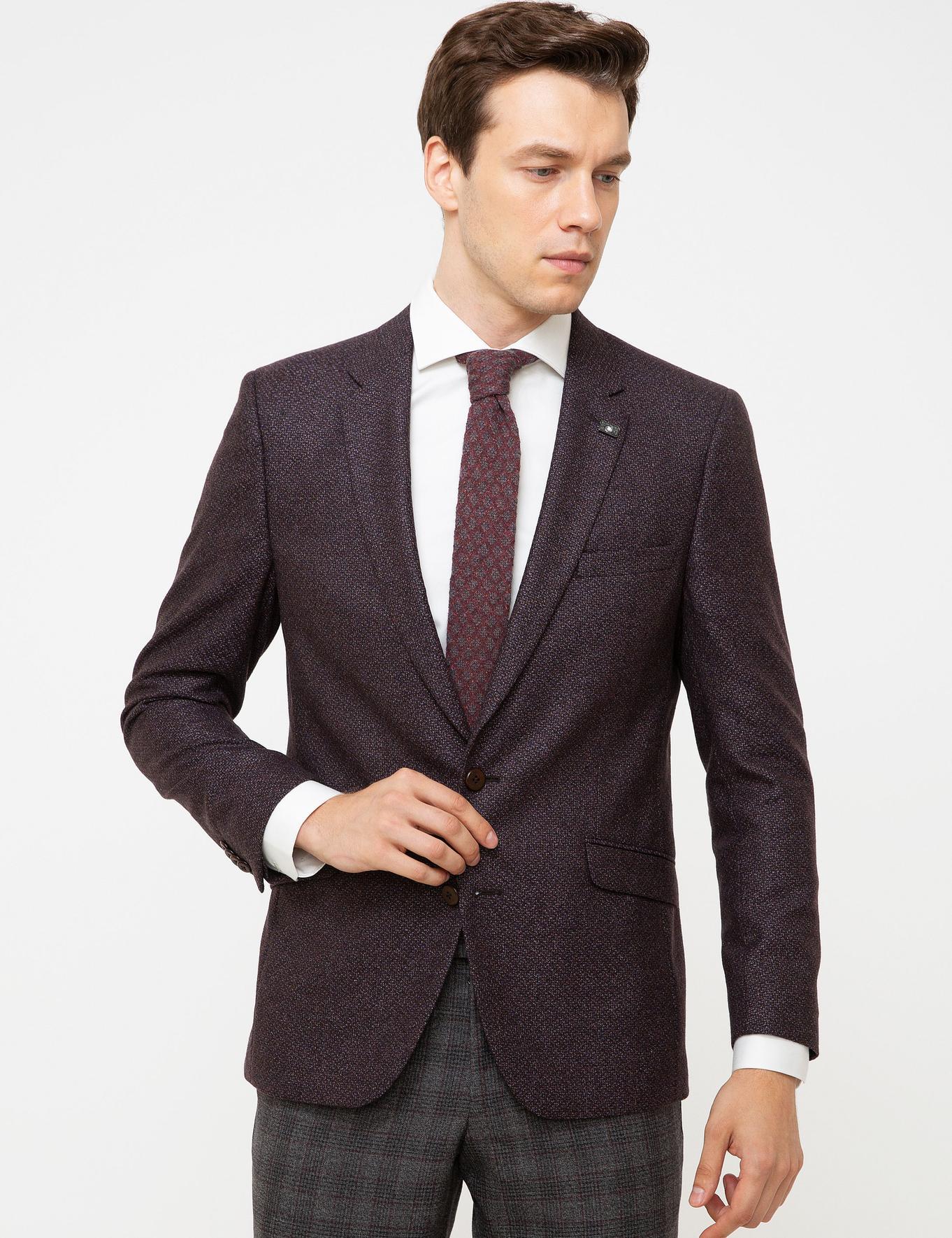 Bordo Slim Fit Ceket - 50192572041