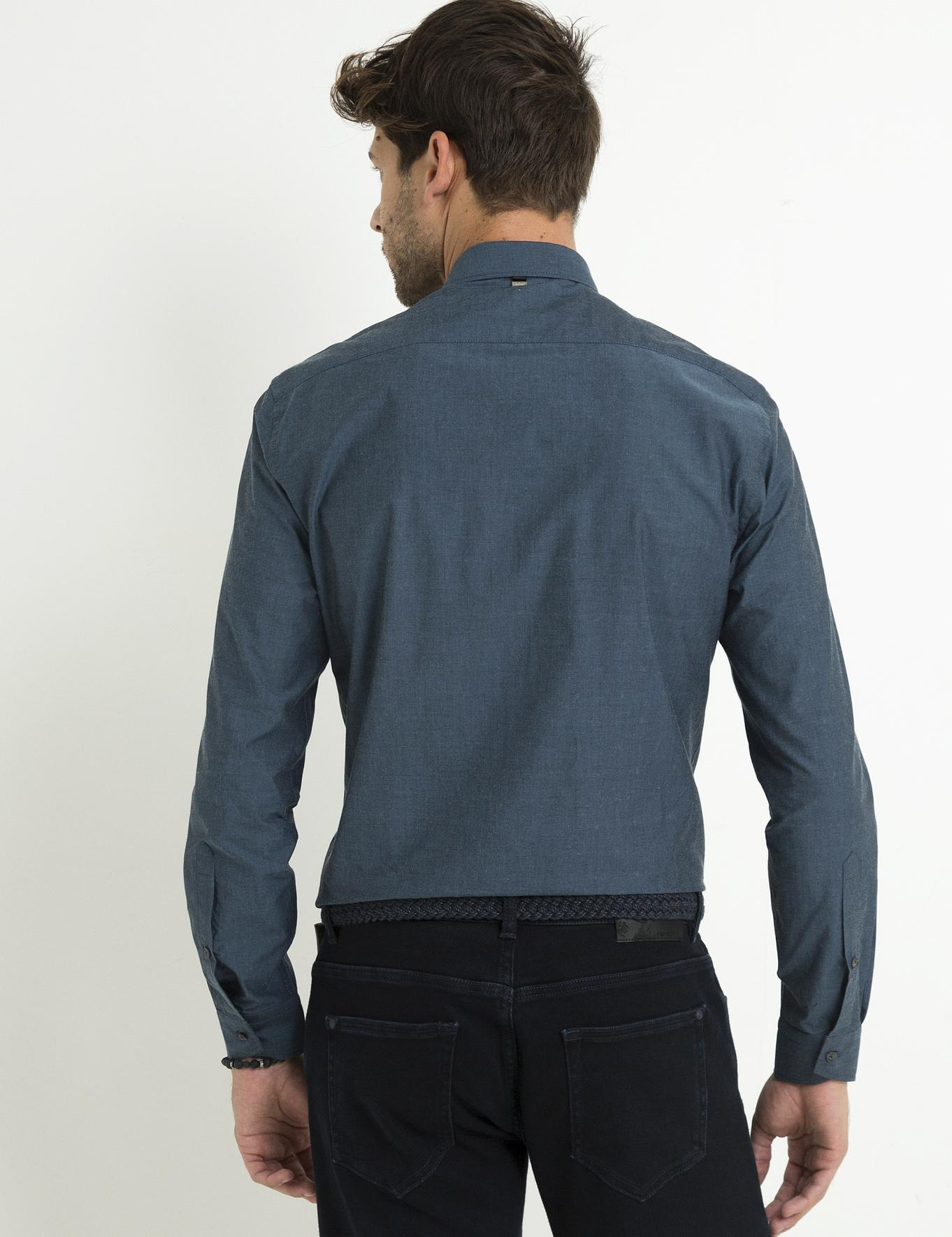 Lacivert Slim Fit Gömlek - 50192756021