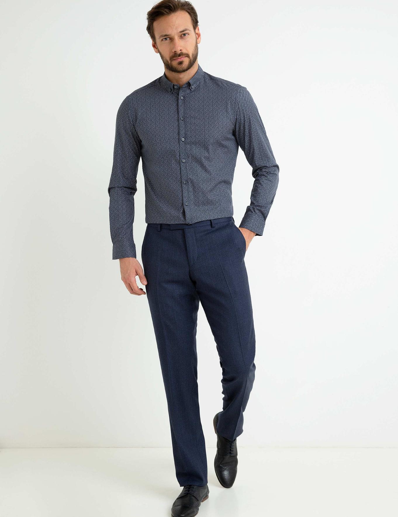 Lacivert Slim Fit Gömlek - 50193011005