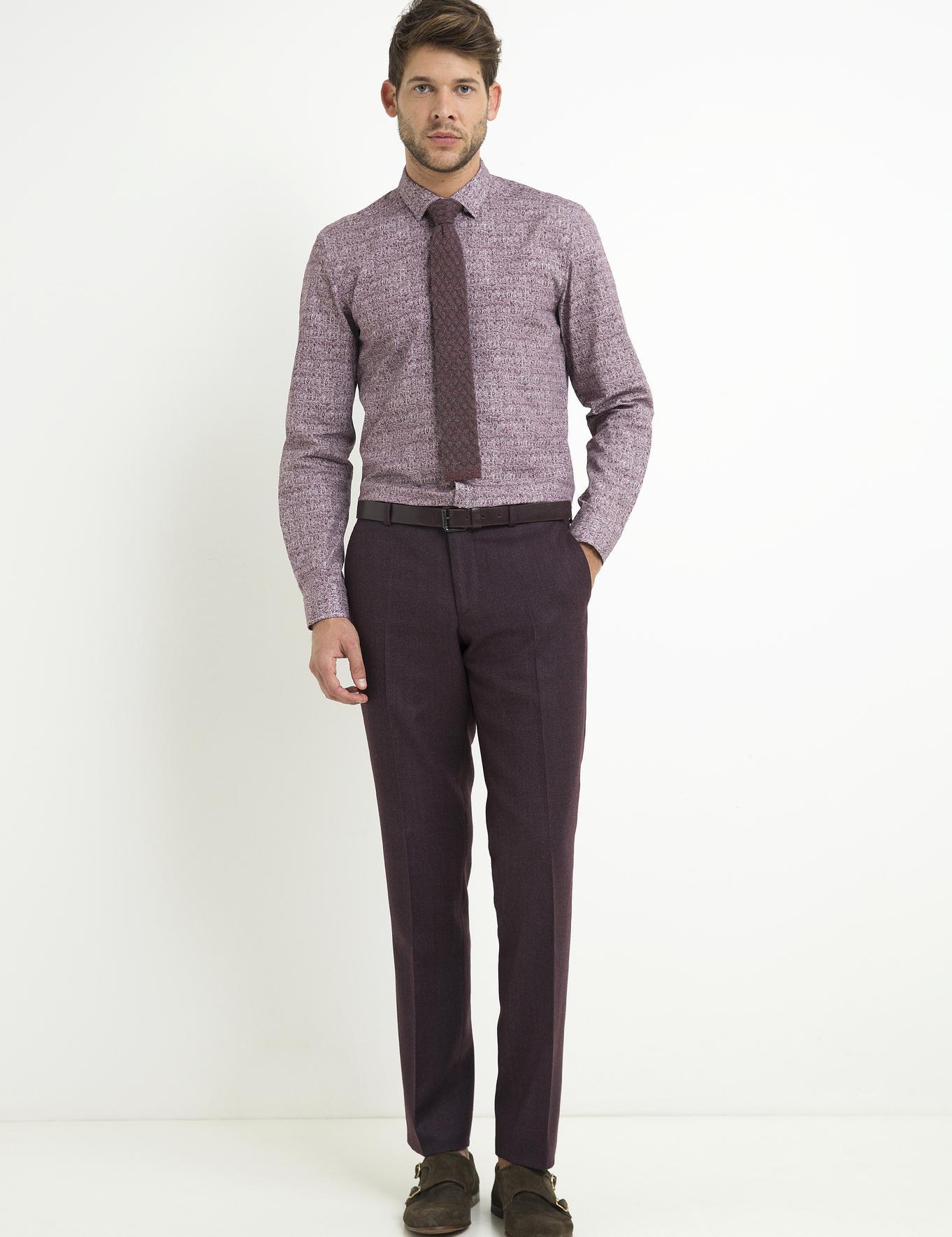 Bordo Slim Fit Pantolon - 50194197003