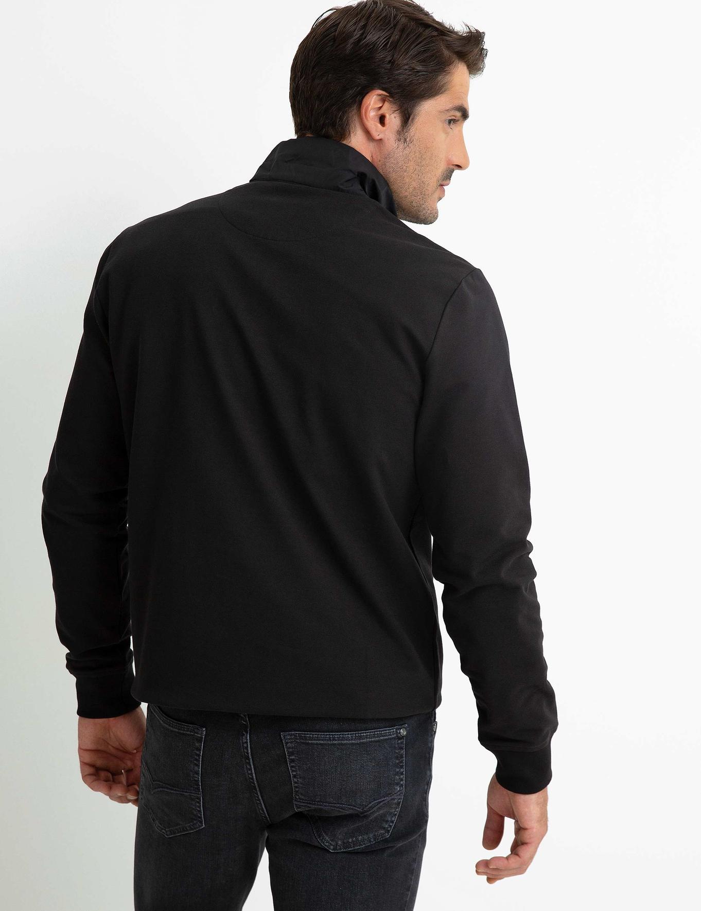 Siyah Slim Fit Sweatshirt - 50197246004
