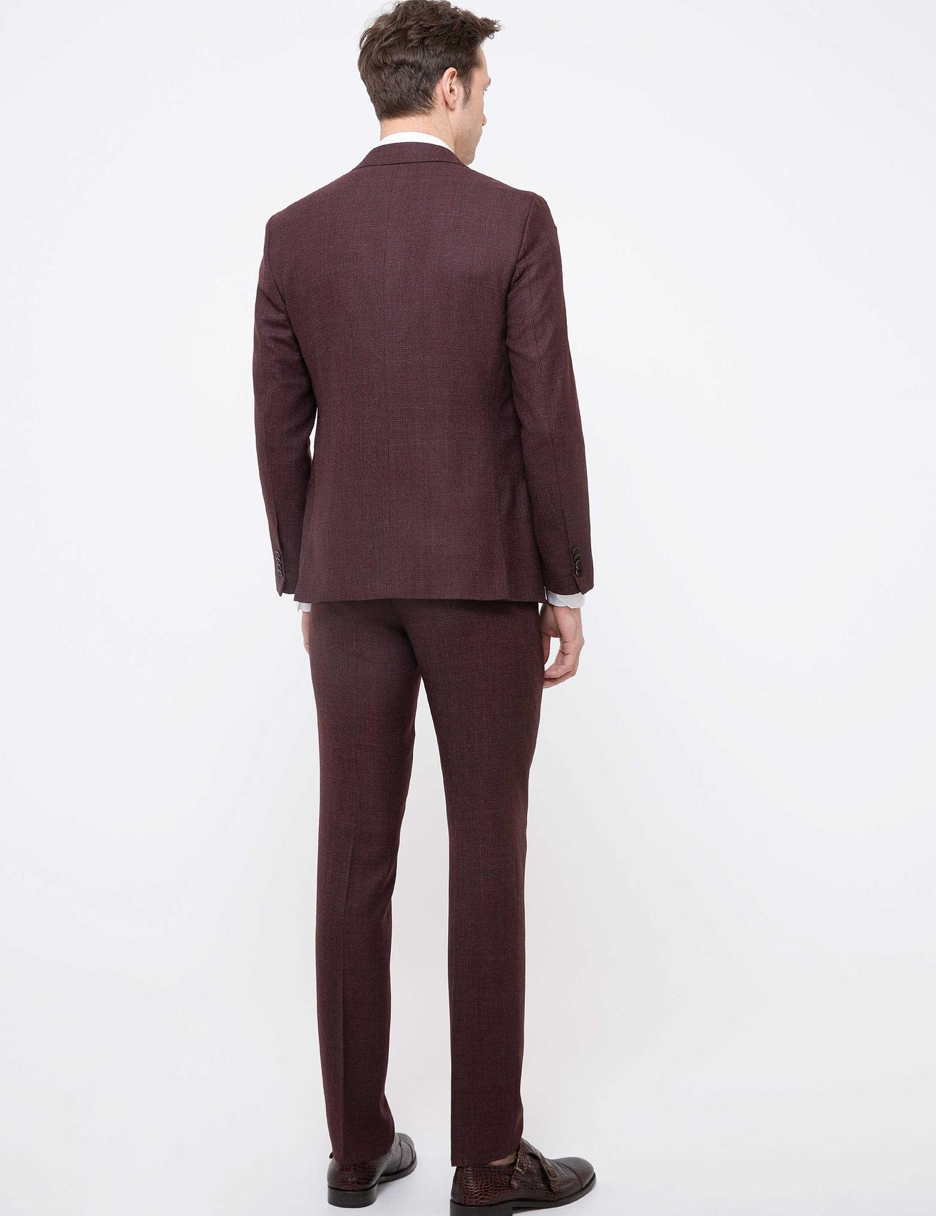 Bordo Slim Fit Takım Elbise - 50200677001
