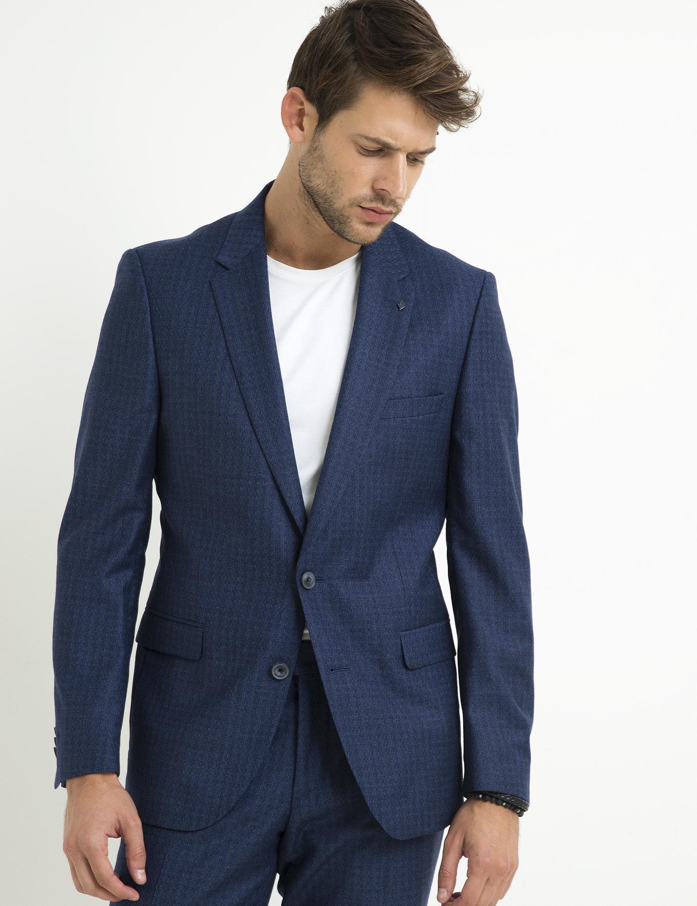Lacivert Slim Fit Takım Elbise - 50200678024