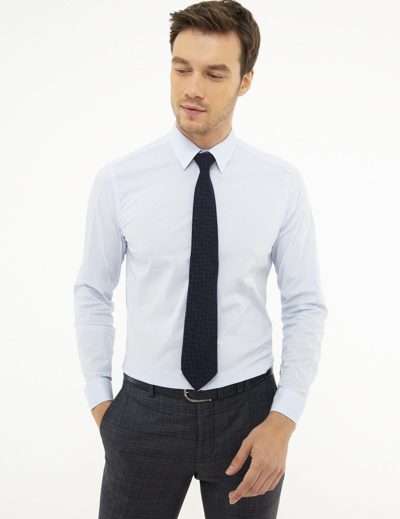 Açık Mavi Slim Fit Gömlek - 50219616004