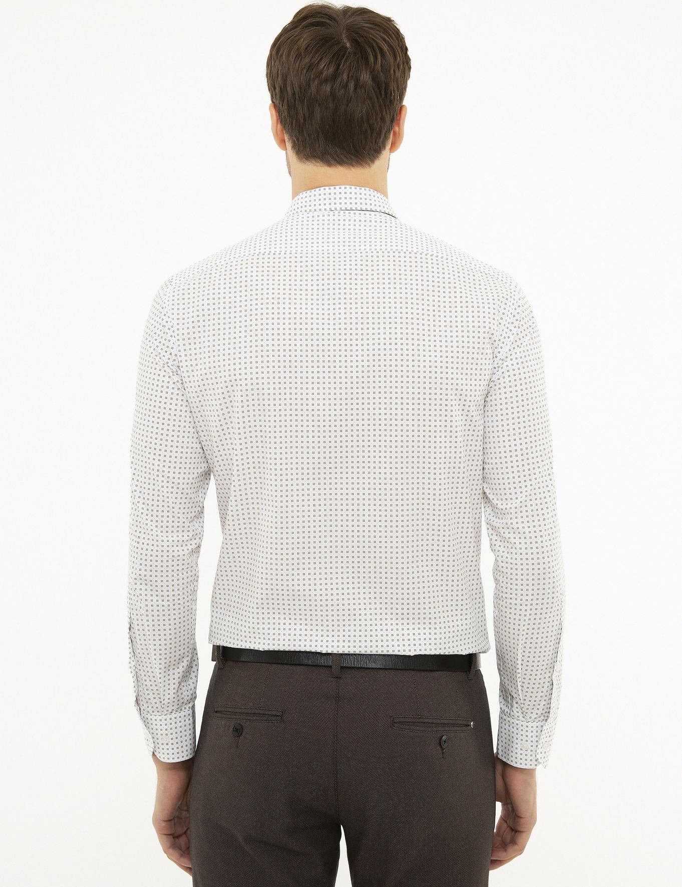 Kahverengi Slim Fit Gömlek - 50218010032