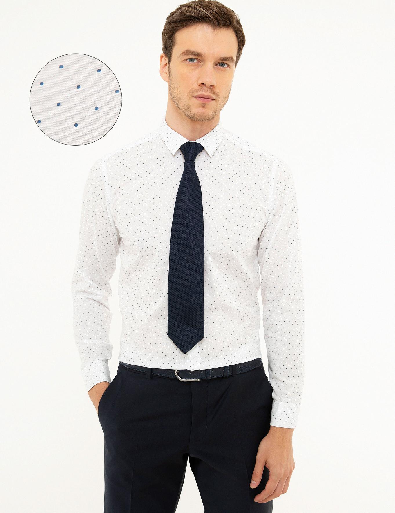 Beyaz Slim Fit Gömlek - 50218029007