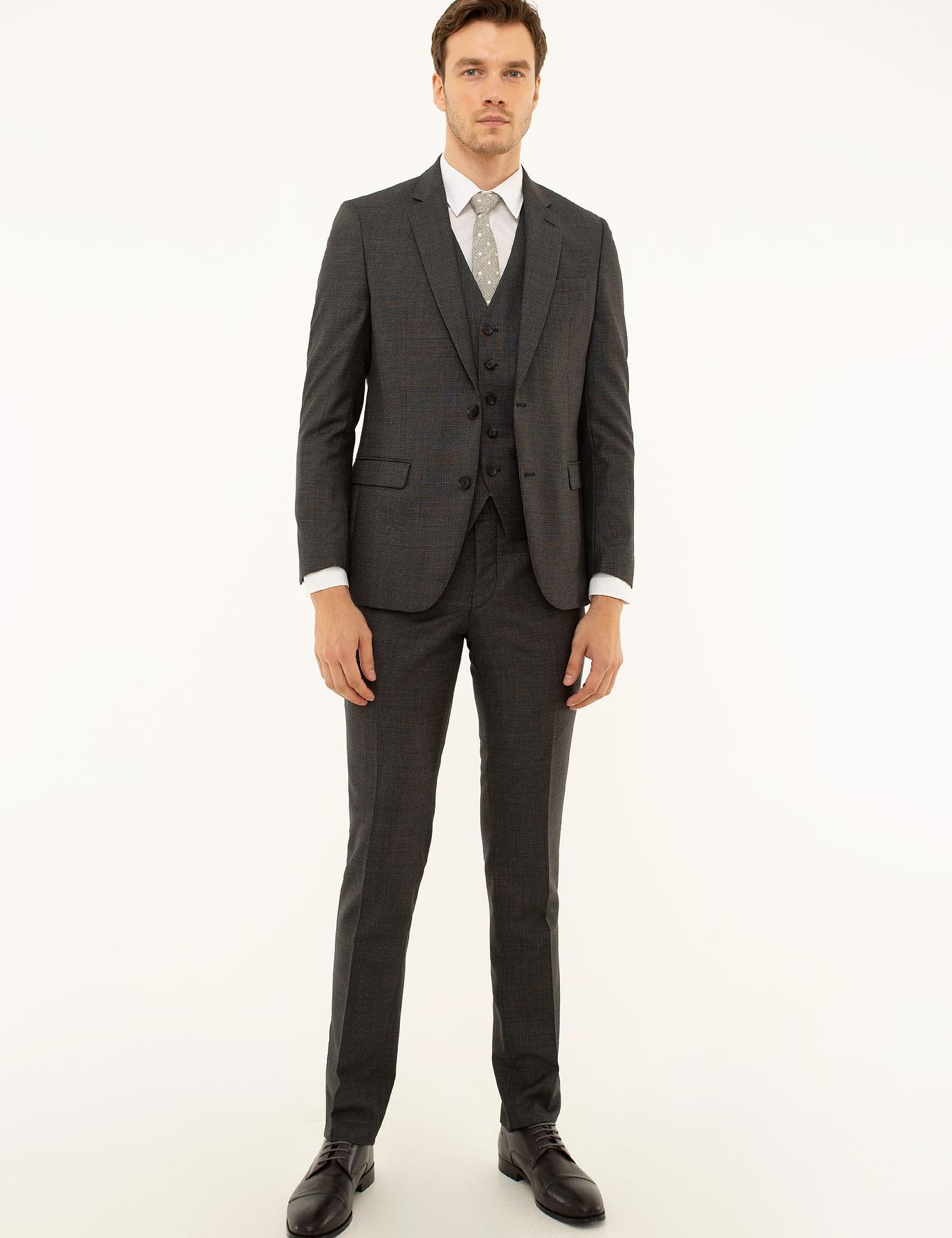 Füme Slim Fit Takım Elbise - 50219319053