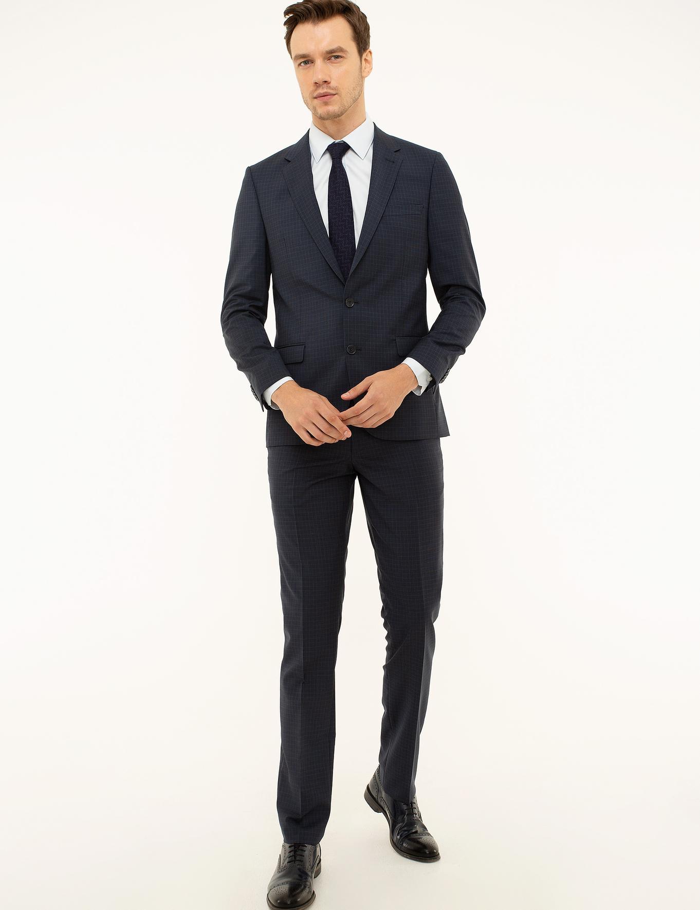 Lacivert Slim Fit Takım Elbise - 50219325011