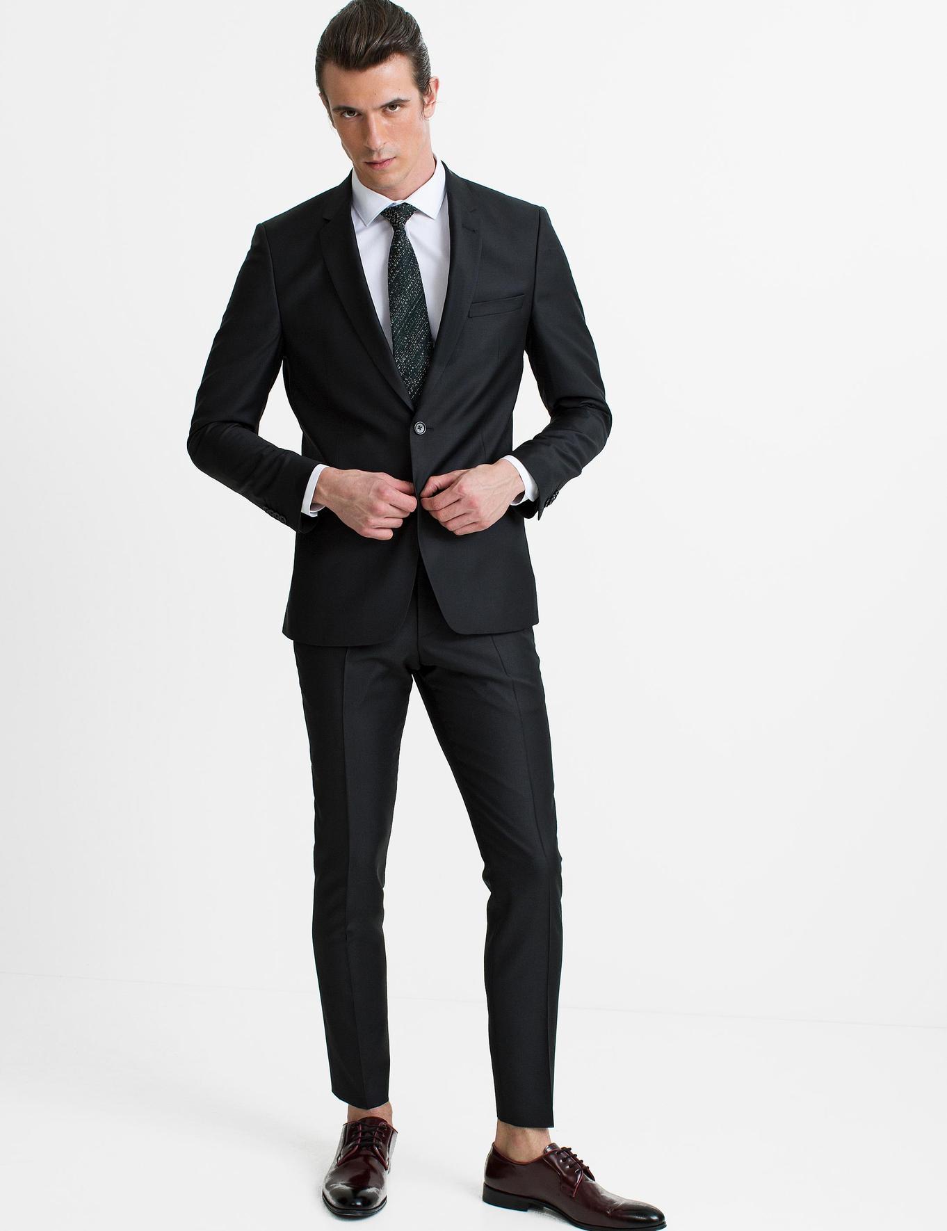 Siyah Slim Fit Takım Elbise - 50190716037