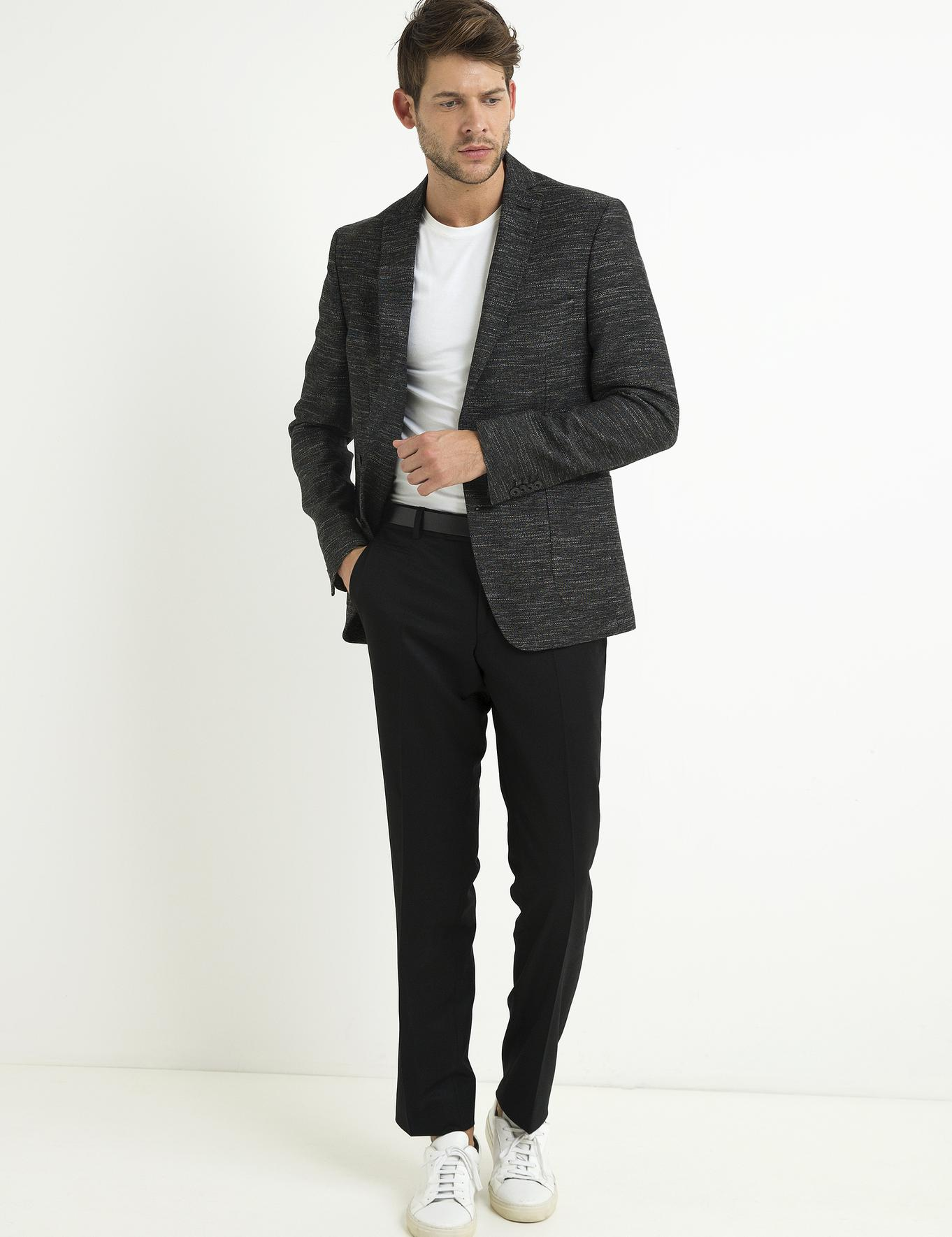 Siyah Slim Fit Pantolon - 50192637014