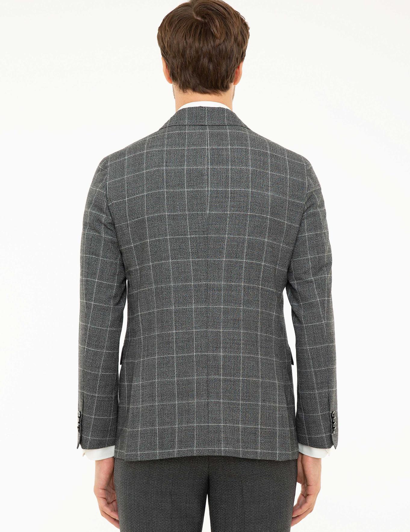 Siyah Slim Fit Ceket - 50211452017