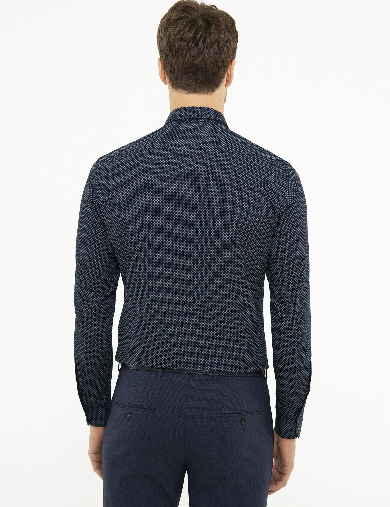 Lacivert Slim Fit Gömlek - 50218075004