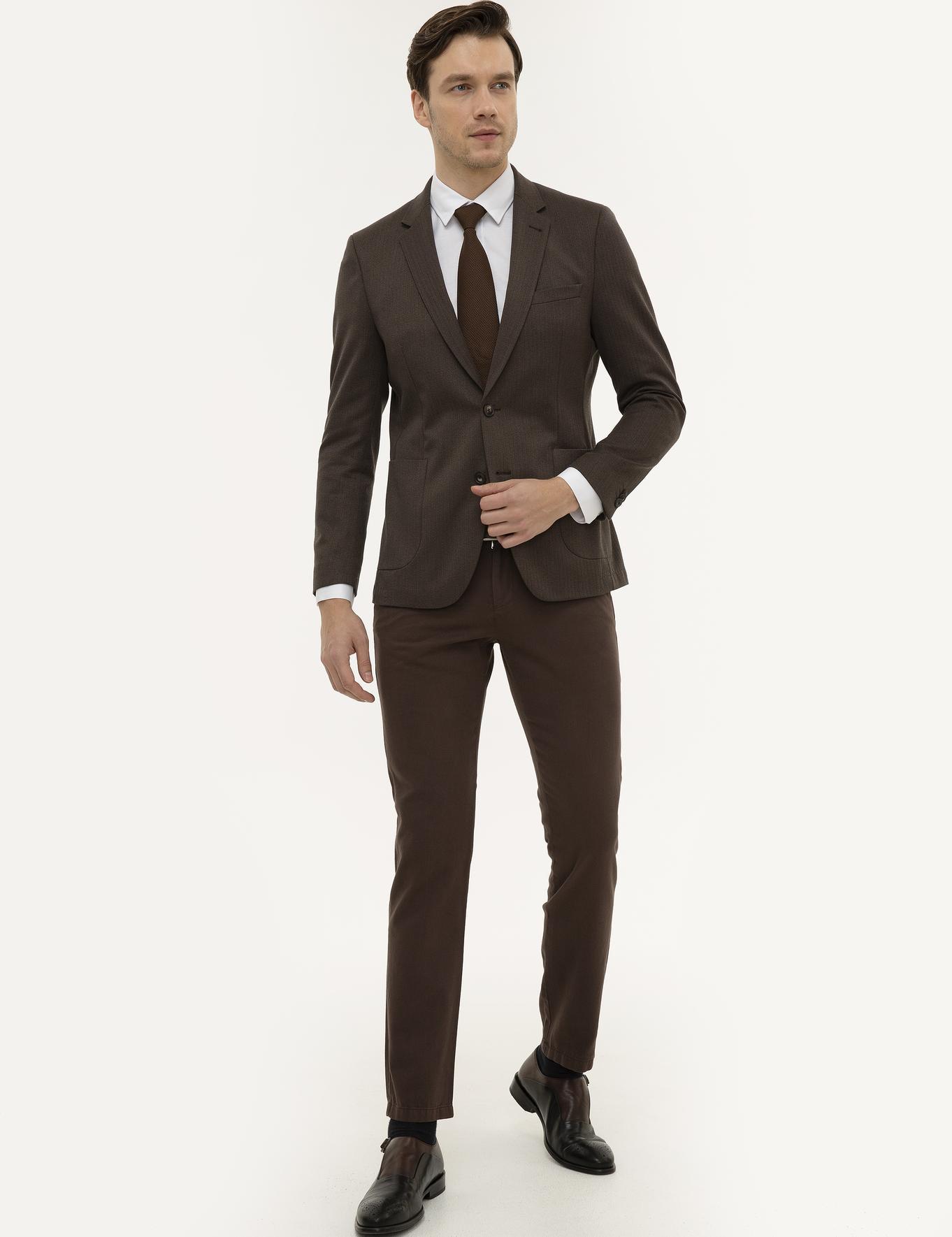 Açık Kahverengi Slim Fit Chino - 50225933035