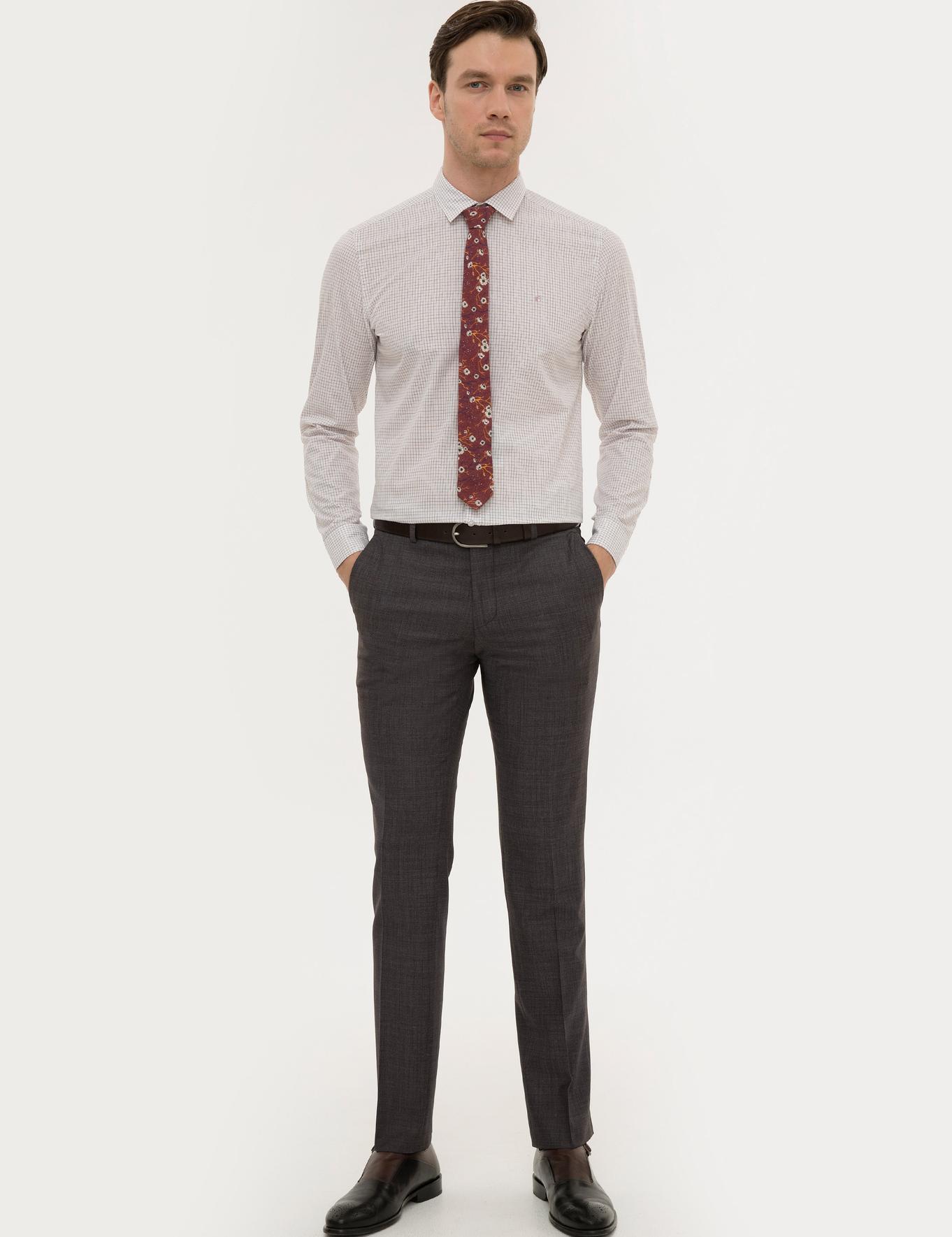 Bordo Slim Fit Gömlek - 50221096025