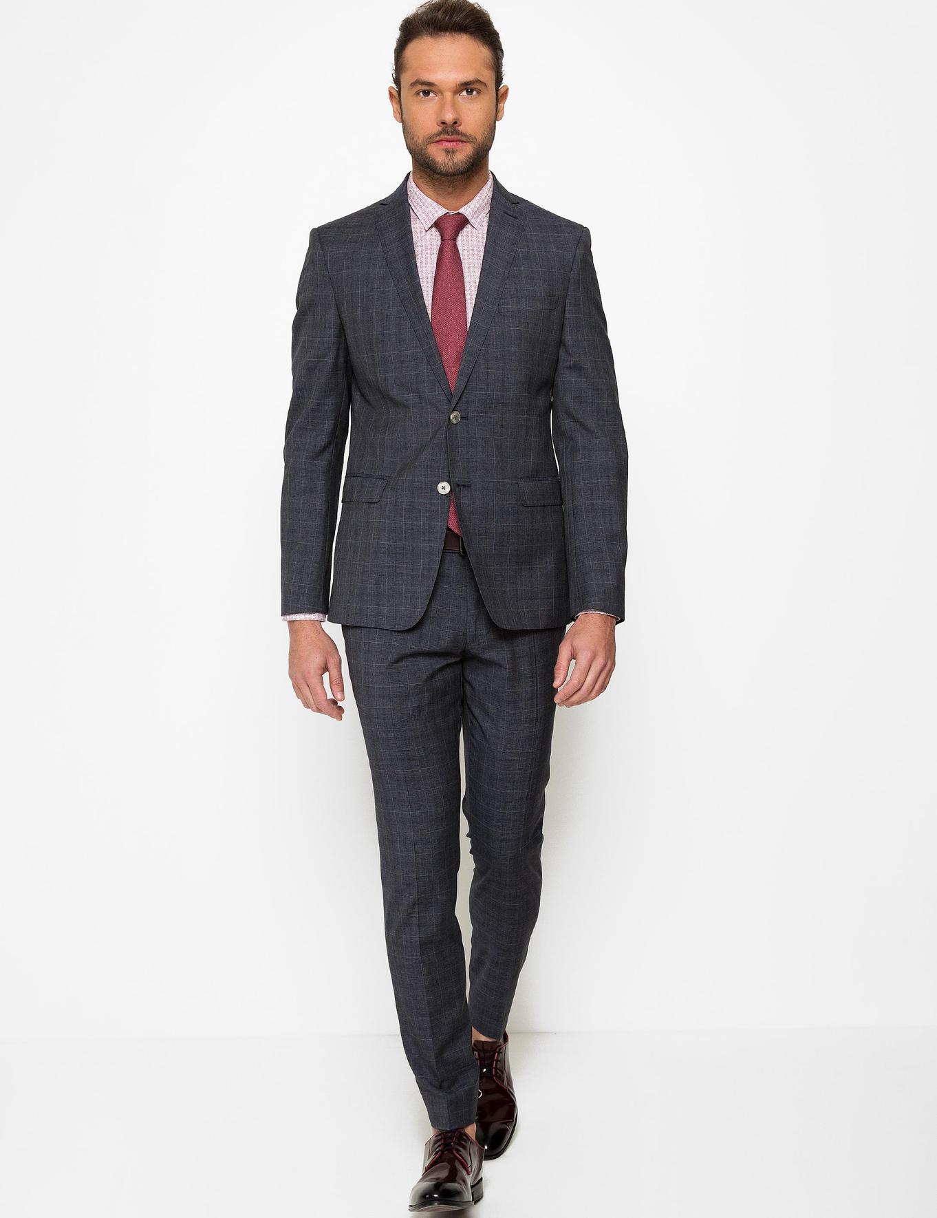Antrasit Slim Fit Takım Elbise - 50185783005