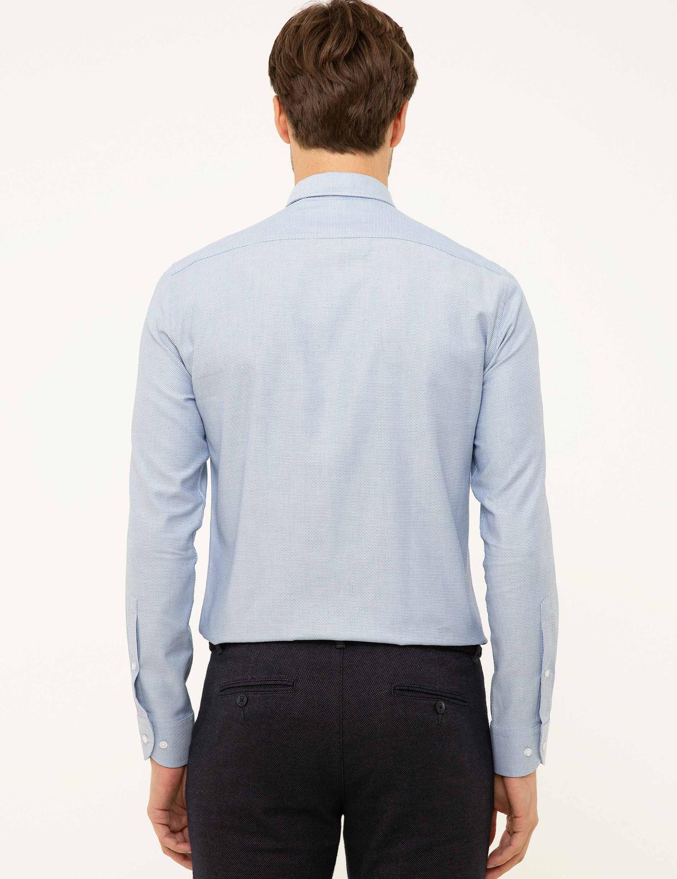 Sax Mavisi Slim Fit Gömlek - 50199629004