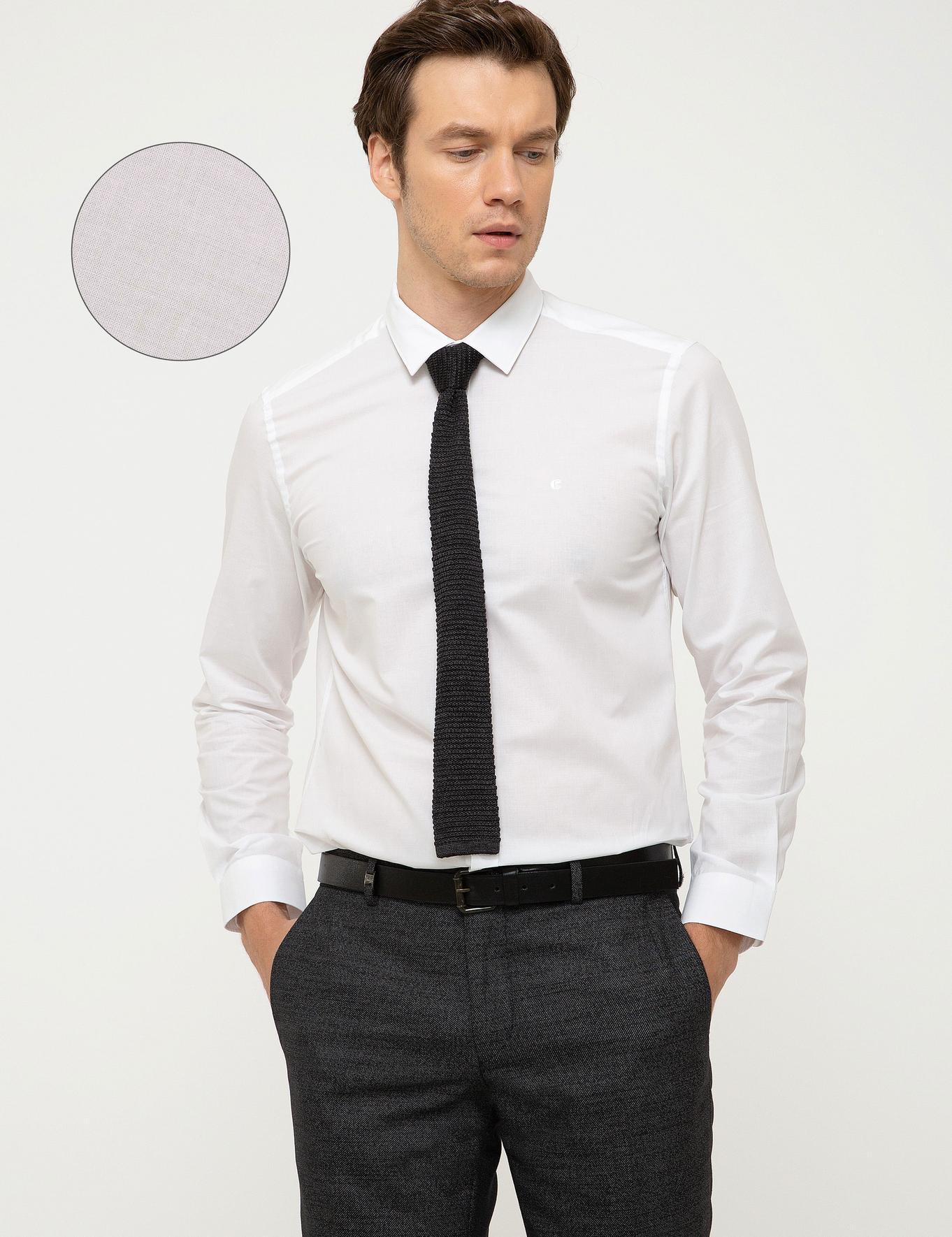 Beyaz Slim Fit Gömlek - 50217750005