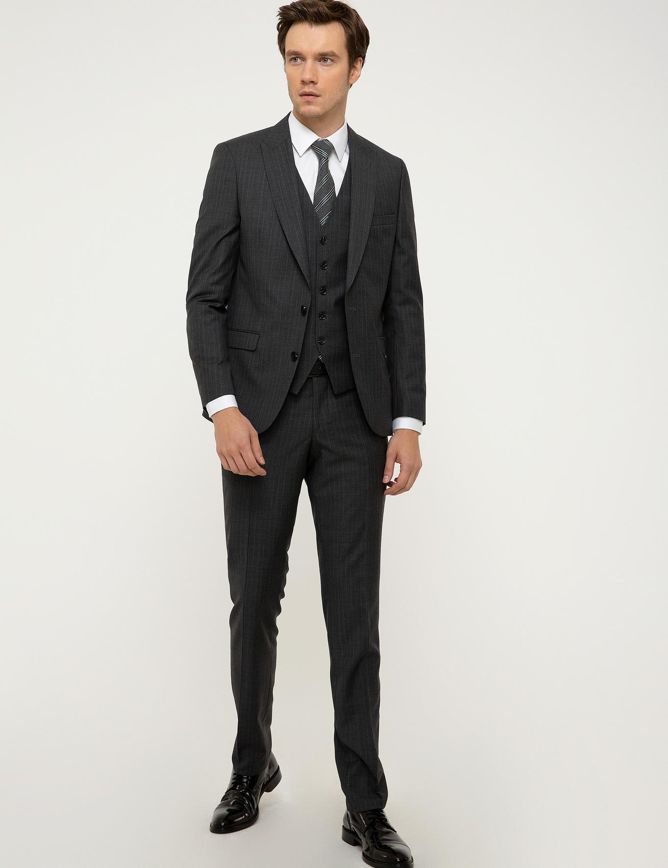 Gri Slim Fit Takım Elbise - 50208891086
