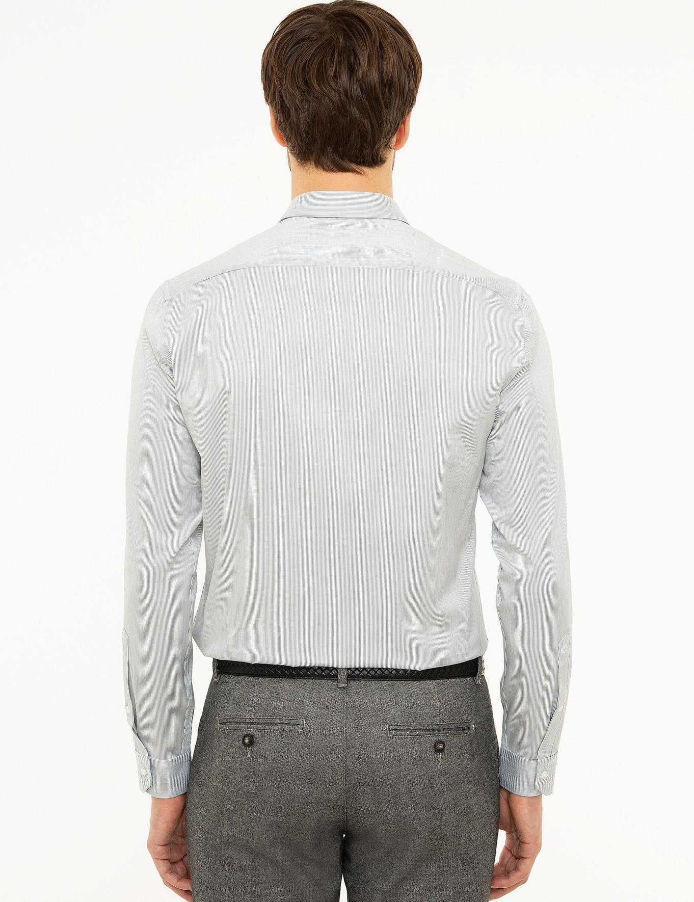 Siyah Slim Fit Gömlek - 50218141004